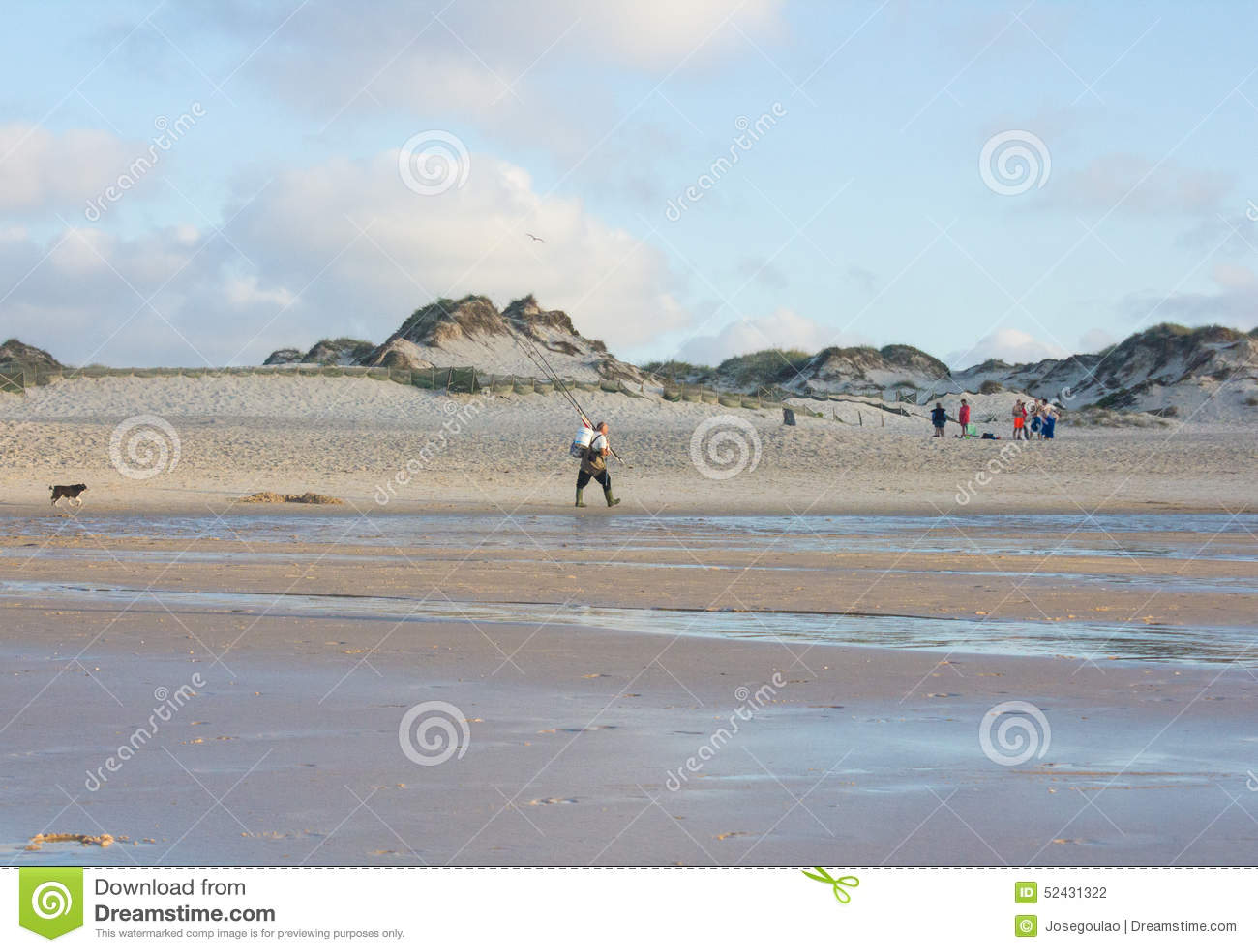 Playa de Baleal en el final de un día de verano en Peniche, Portugal