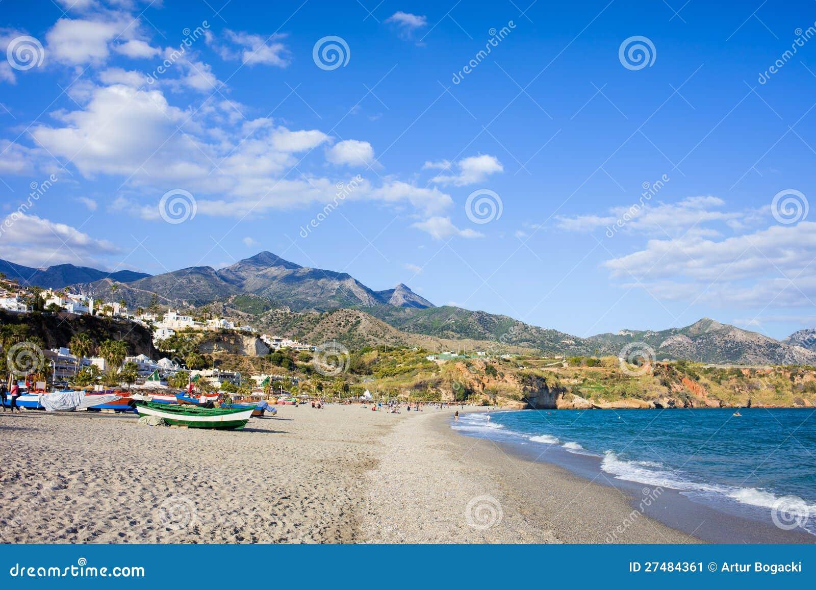 Playa de Burriana en Nerja