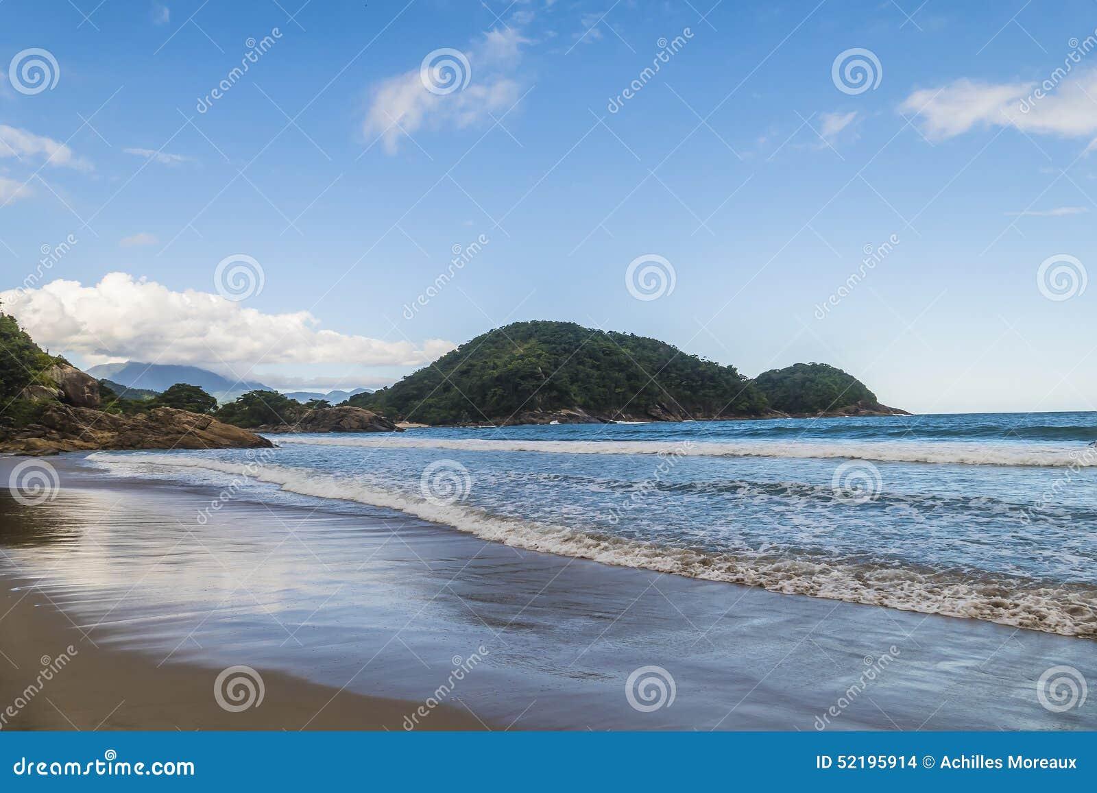 Playa de Cachadaco en el Brasil