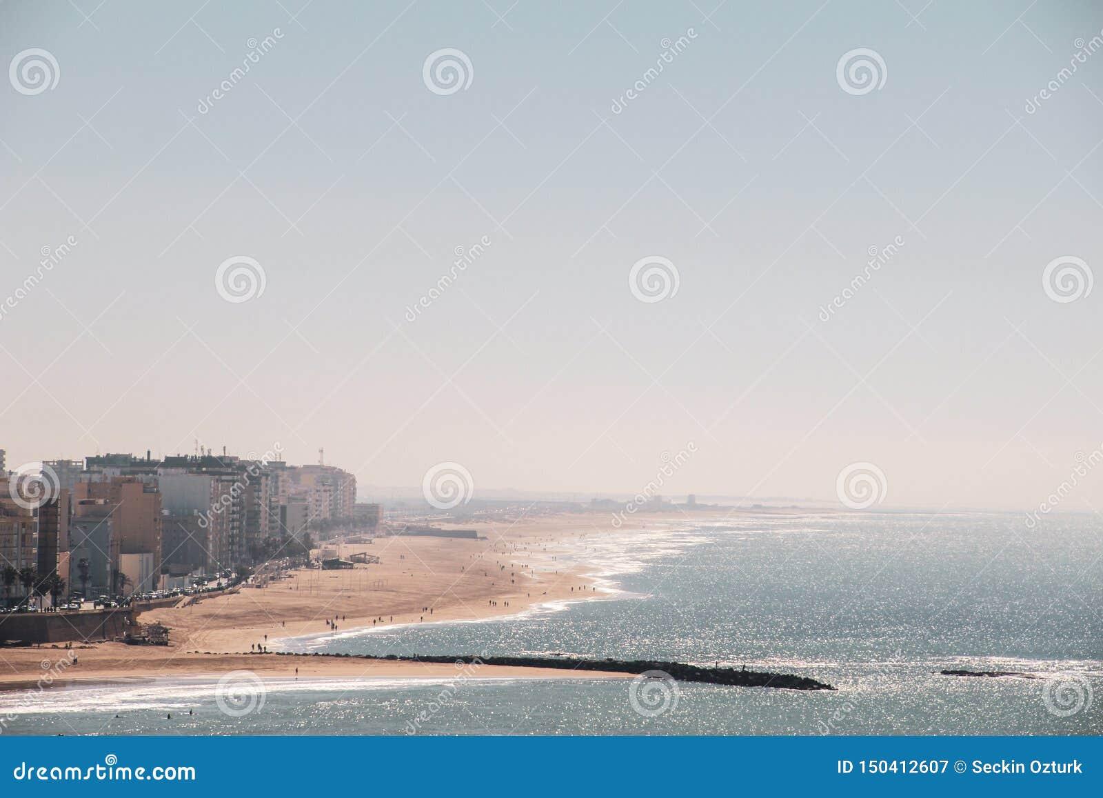 Playa de Caleta del La en C?diz, Espa?a