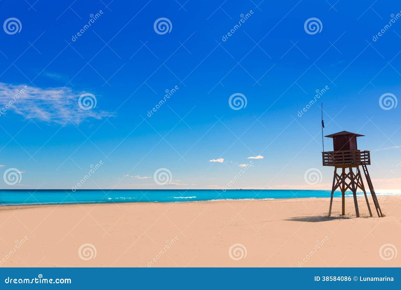 Playa de Canet de Berenguer en Valencia en España