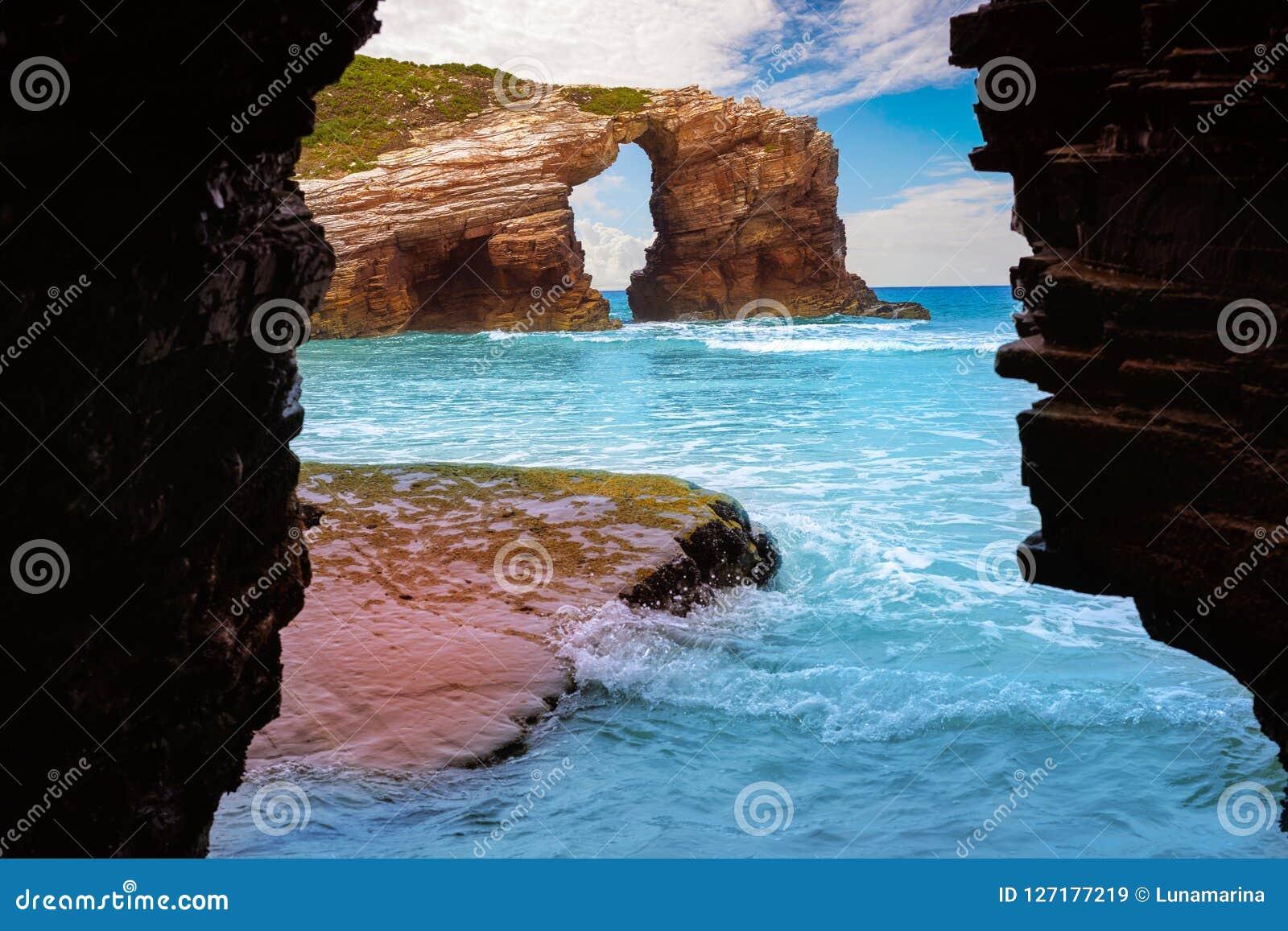 Playa de Catedrais de los catedrales de los las de Playa en Galicia España