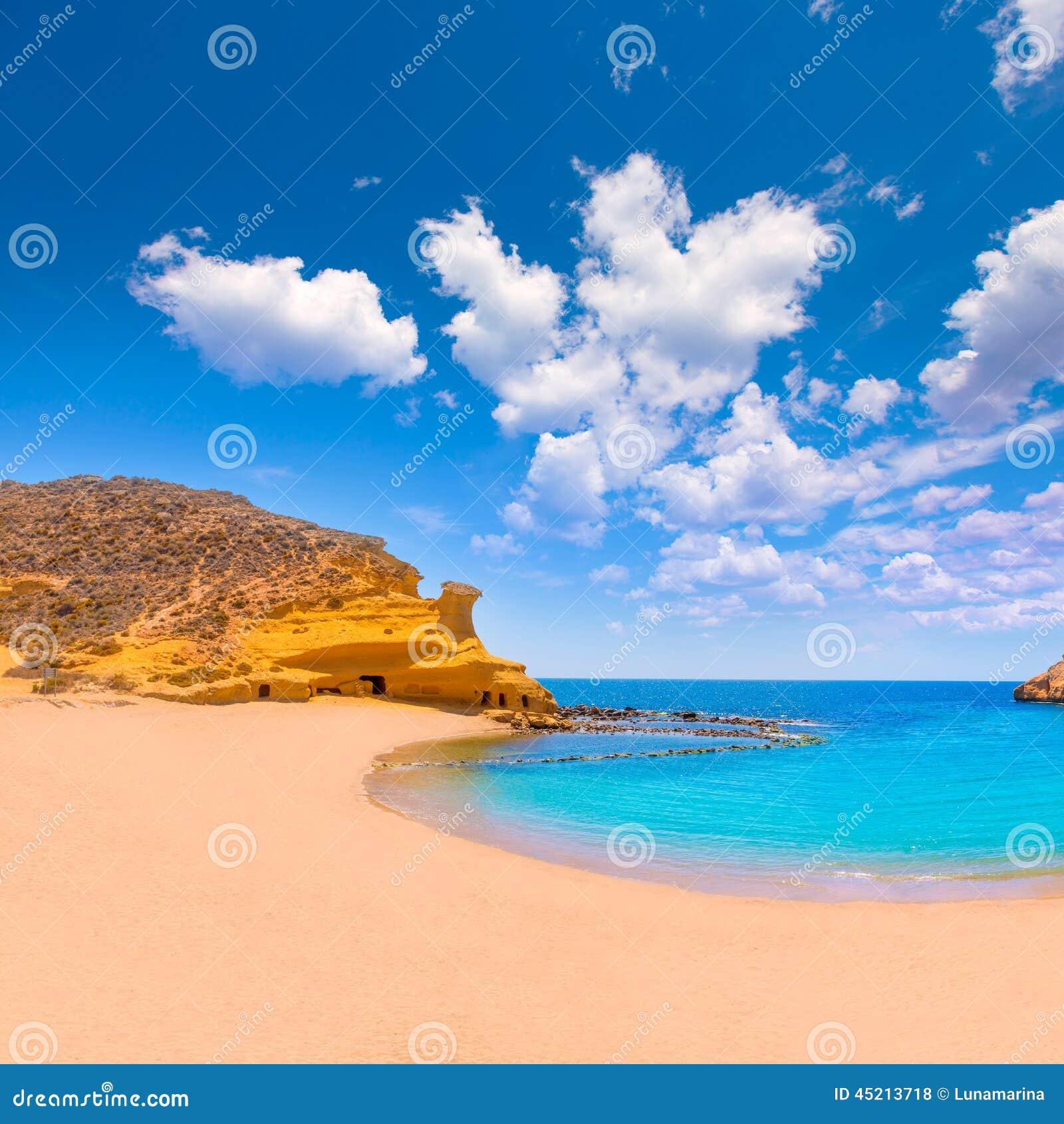 Playa de Cocedores en Murcia cerca de Aguilas España