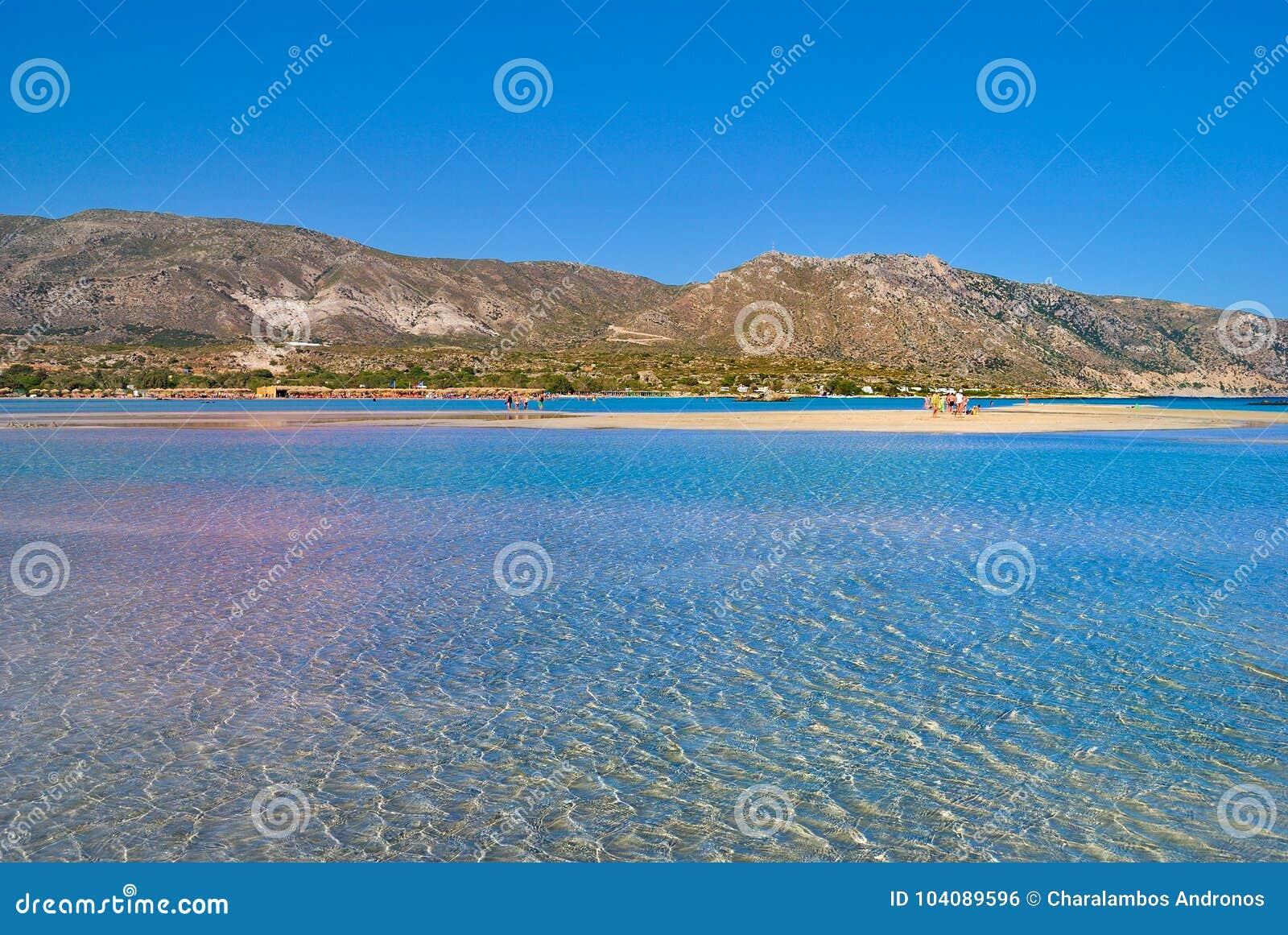 Playa de Elafonisi en Creta Grecia