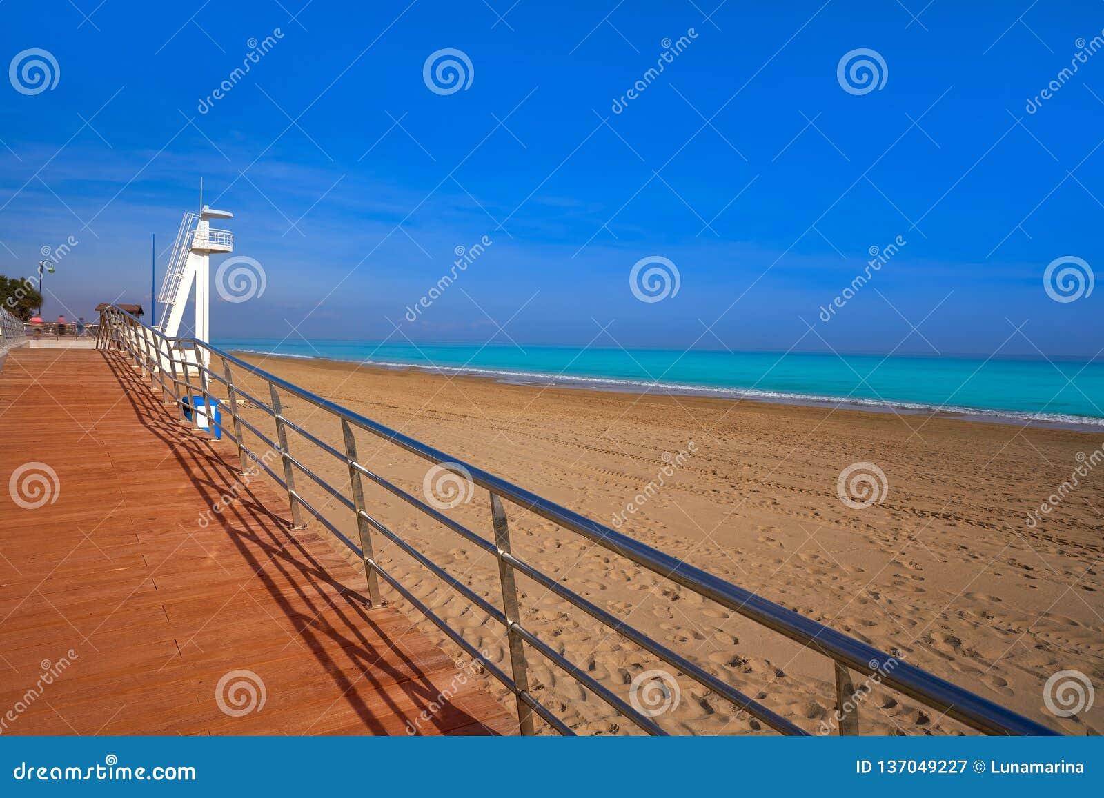 Playa De La Mata Beach In Torrevieja Spain Stock Image Image Of Perfect Landmark 137049227
