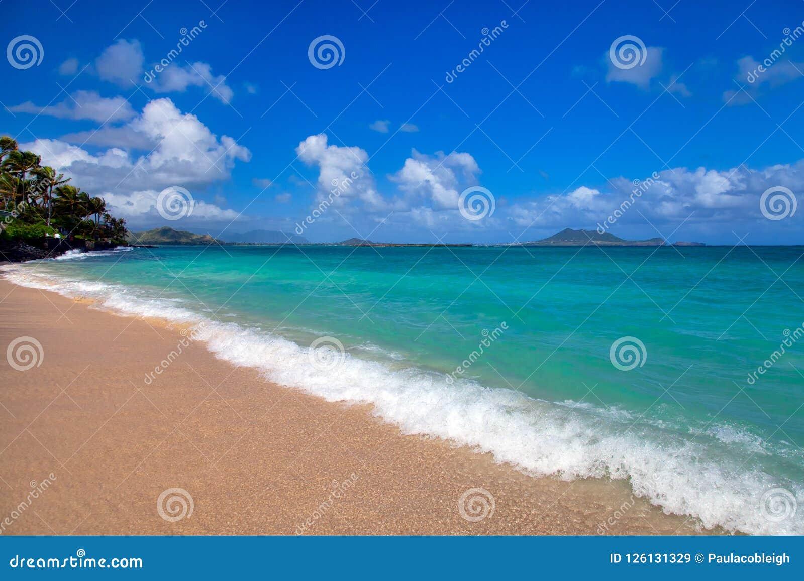 Playa de Lanai en Oahu, Hawaii
