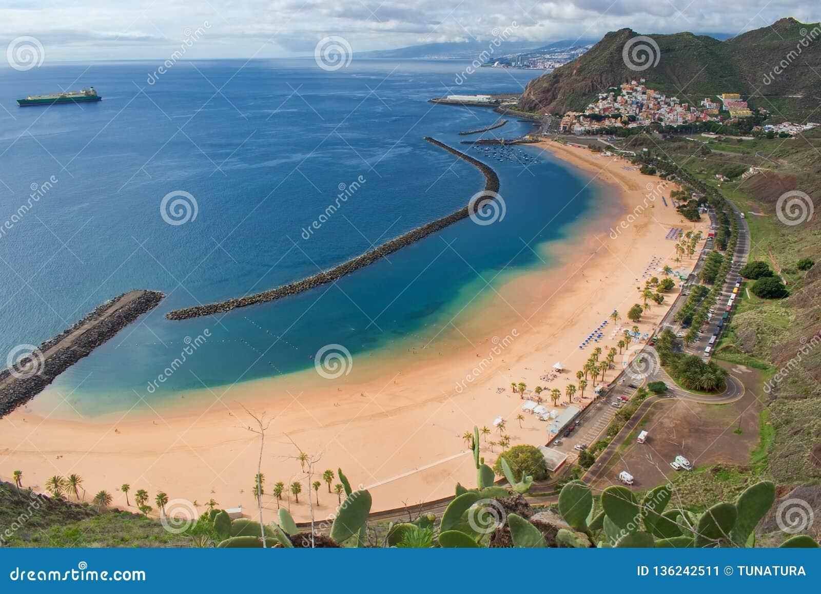 Playa DE Las Teresitas, de Canarische Eilanden van Tenerife, Spanje