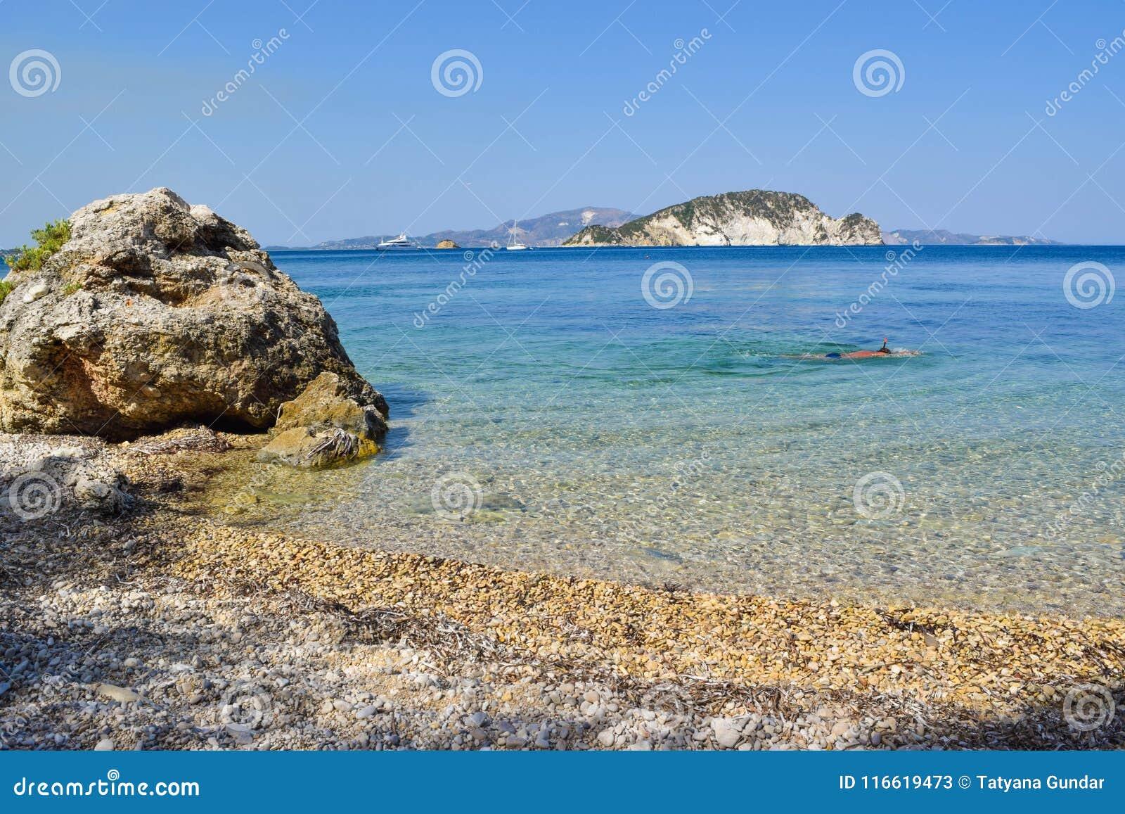 Playa de Marathias, isla de Zakynthos, Grecia