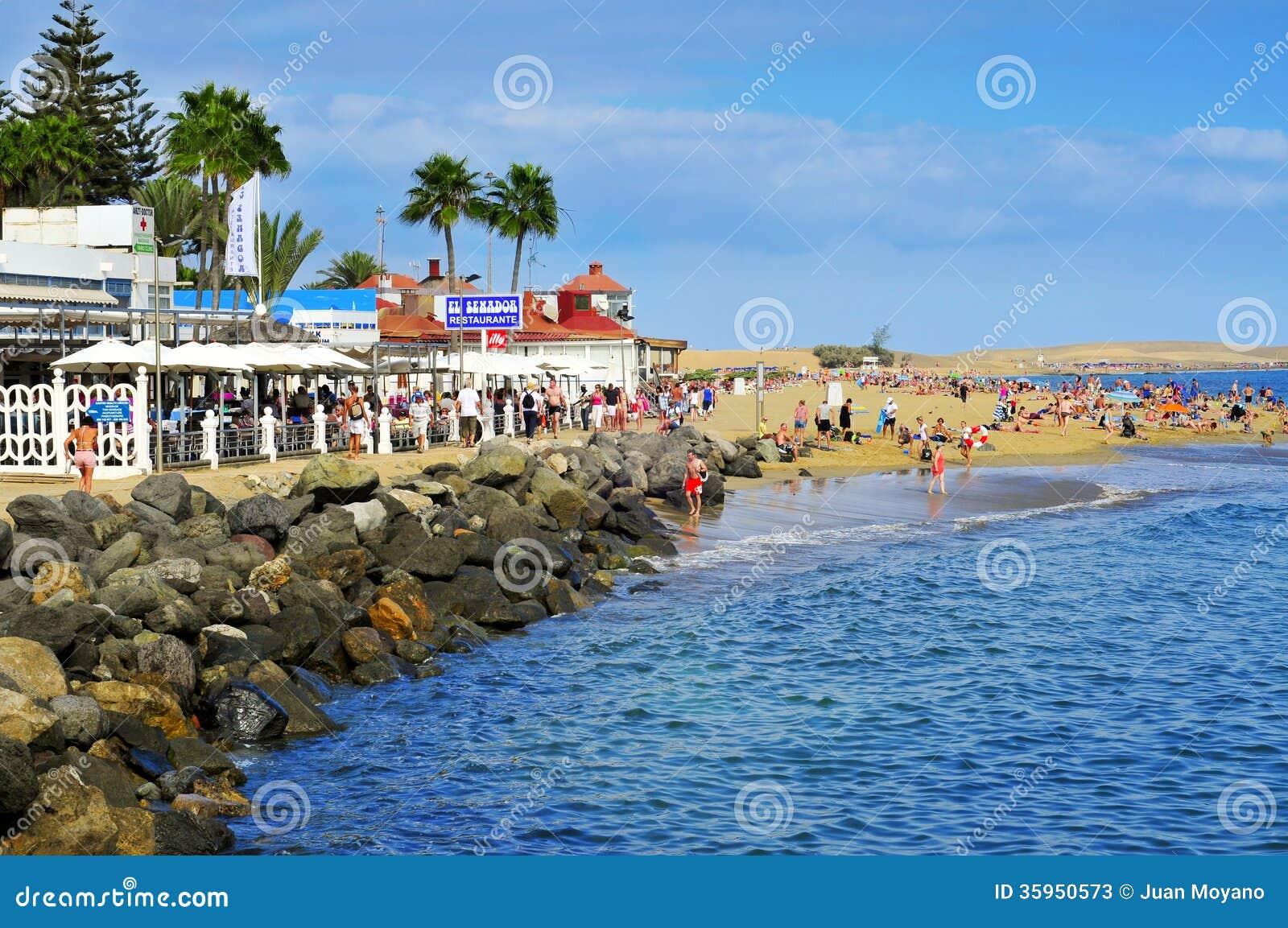 Playa DE Maspalomas strand in Maspalomas, Gran Canaria, Spanje