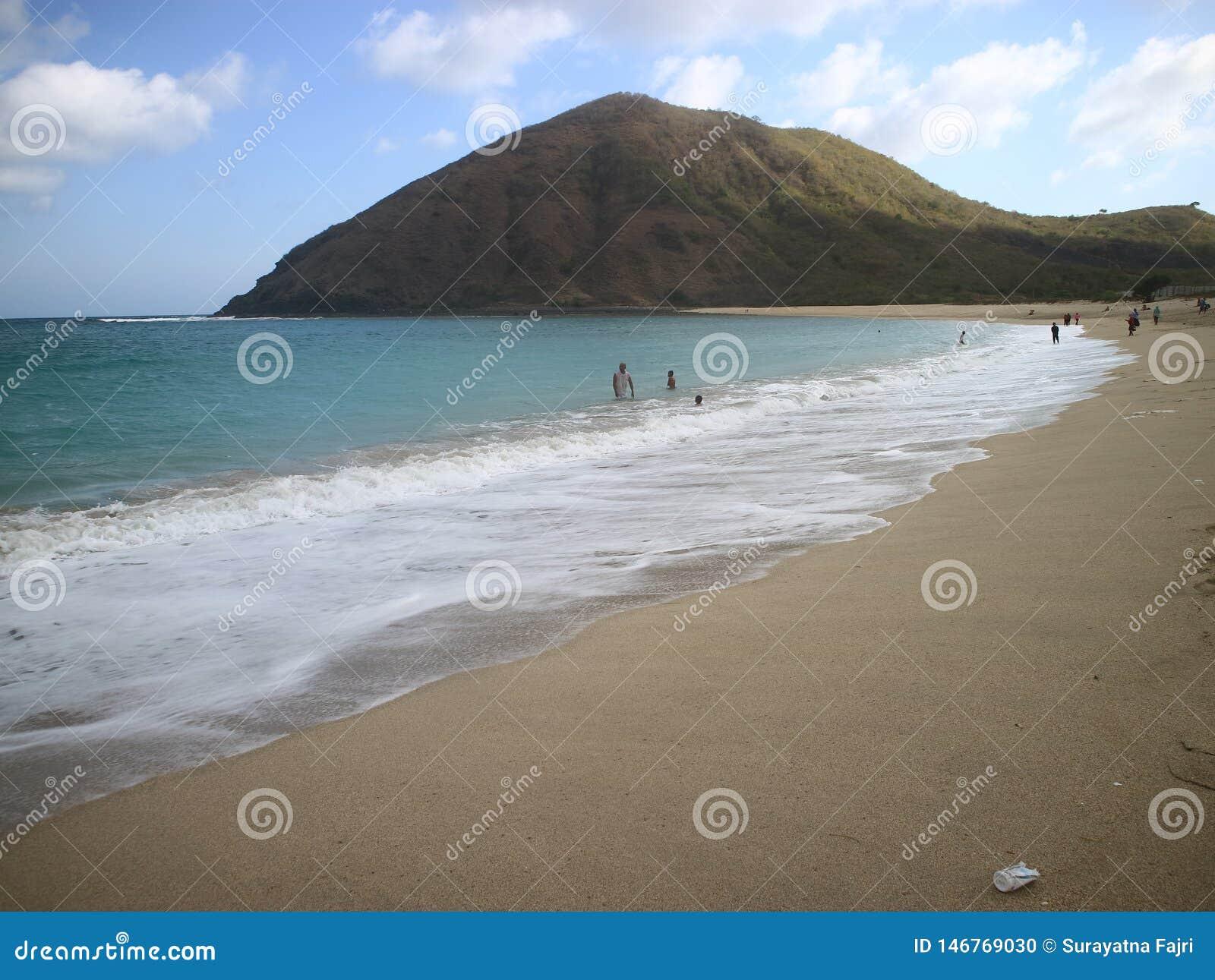 Playa de Mawun, Lombok del sur, Indonesia