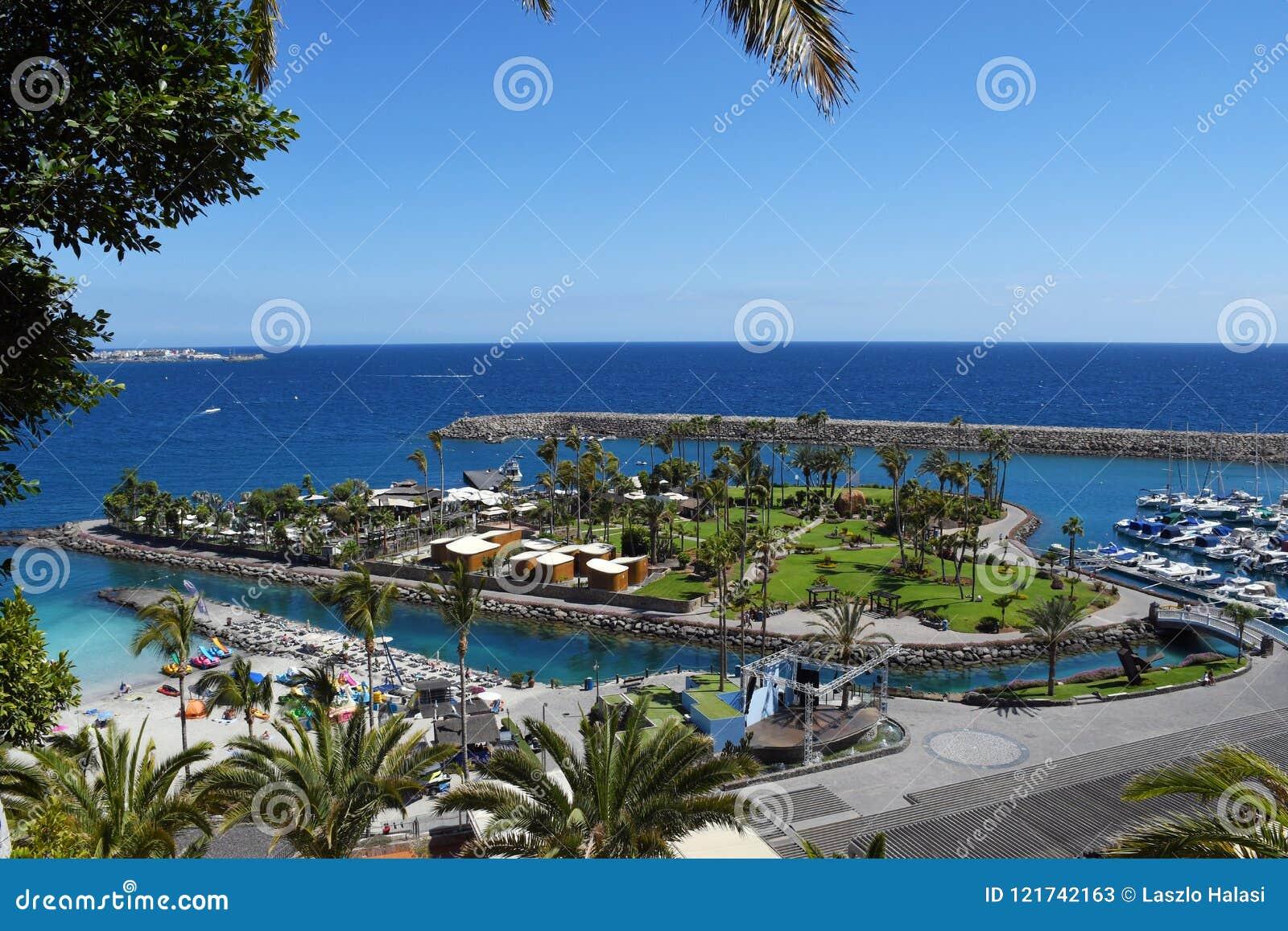 Playa de Mst del fel de Anfi, isla de Gran Canaria, España