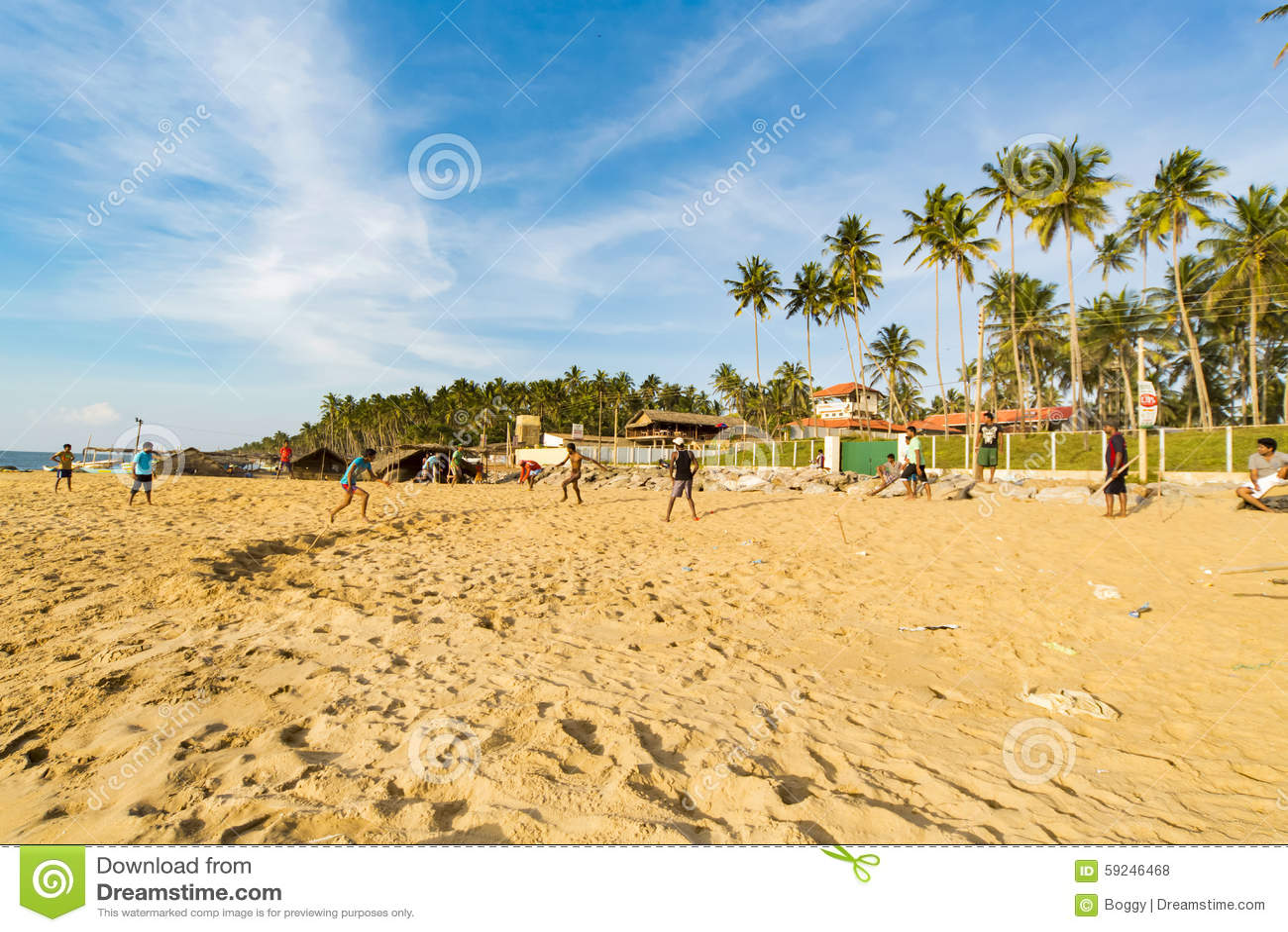 Playa de Negombo en Sri Lanka
