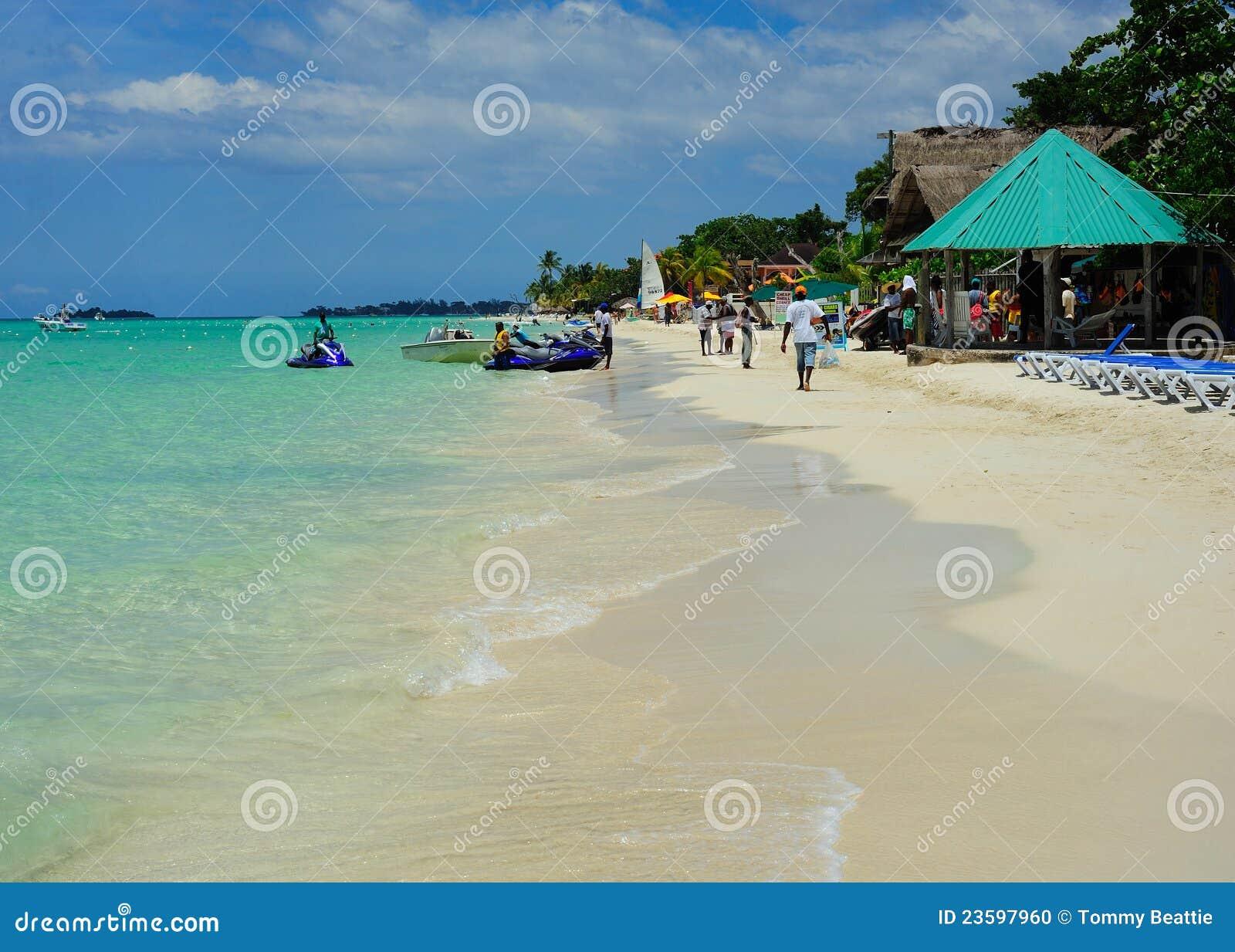 Playa de Negril en Jamaica