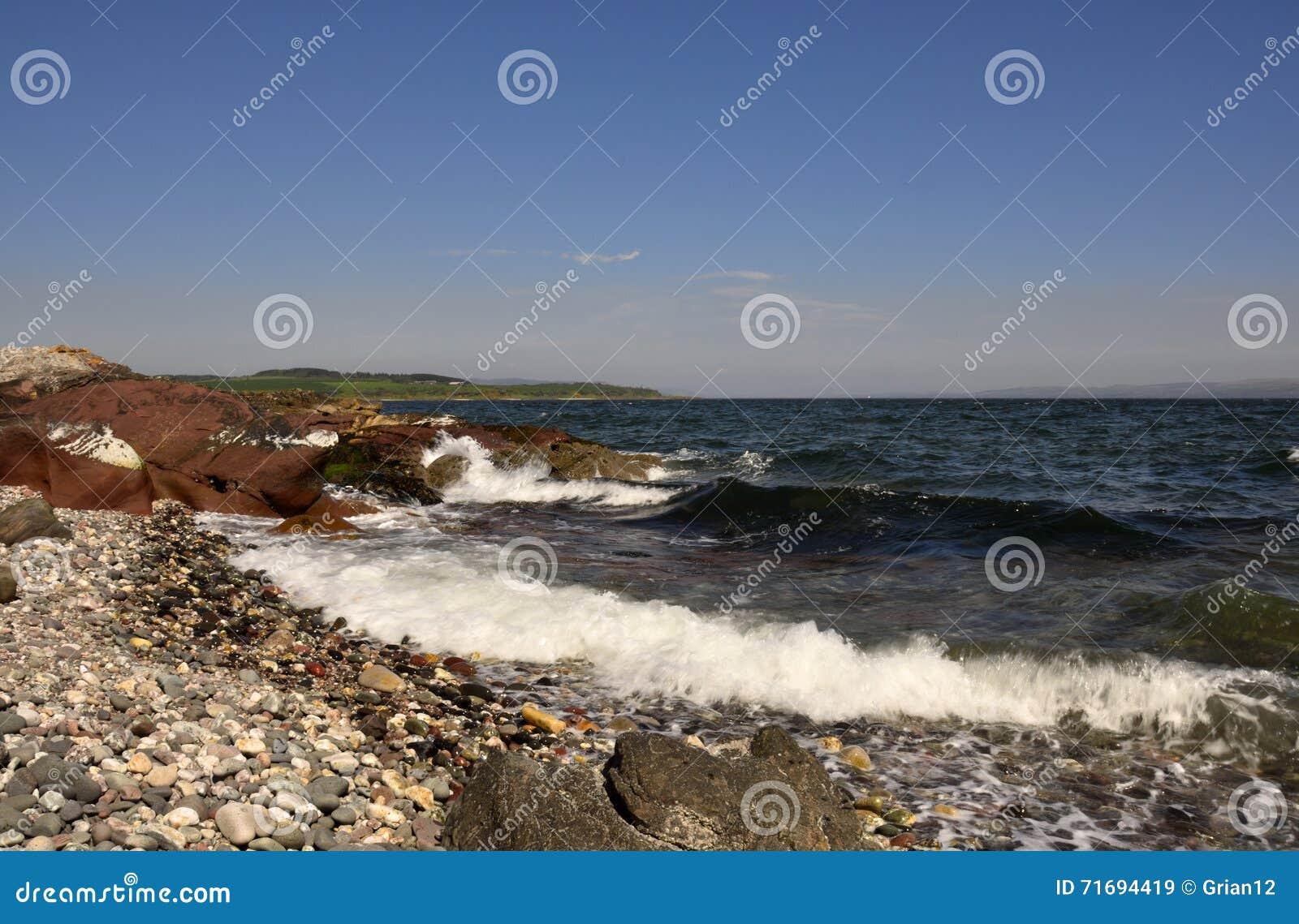 Playa de Pebbled, isla del Bute