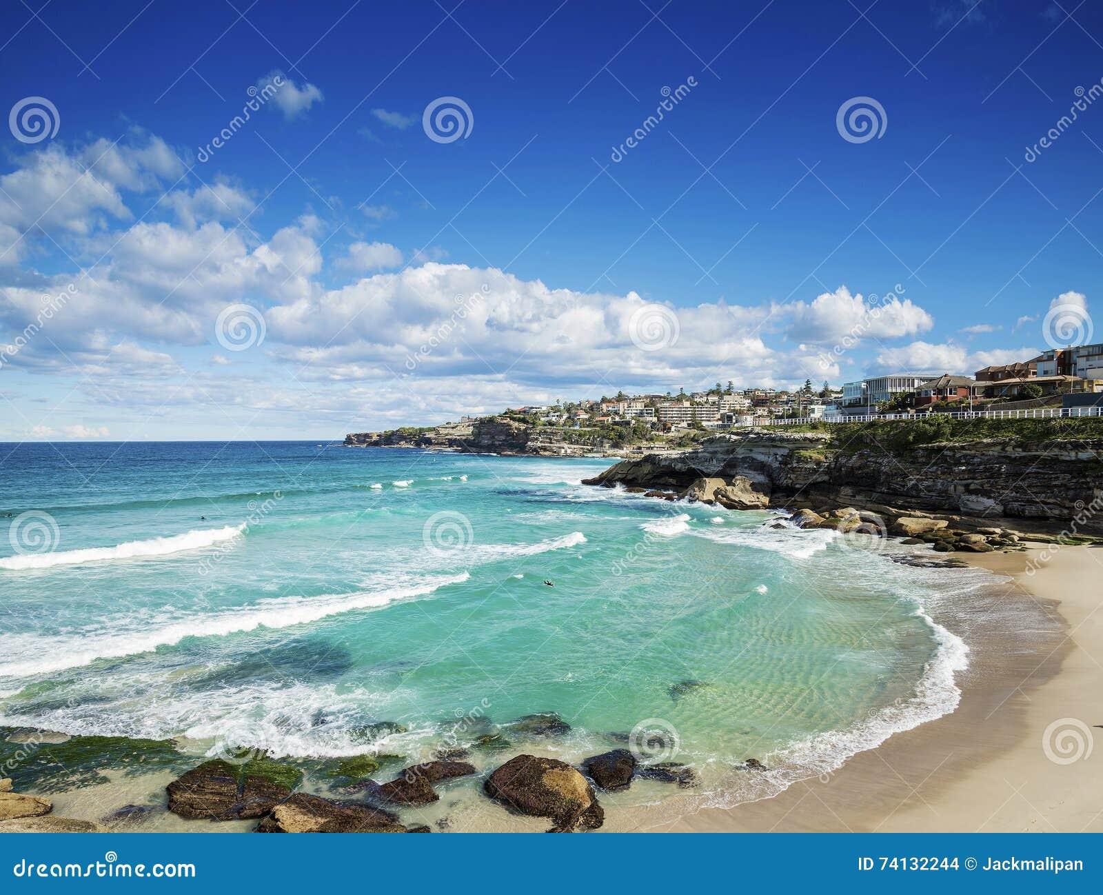 Playa de Tamarama cerca del bondi en la costa de Sydney Australia
