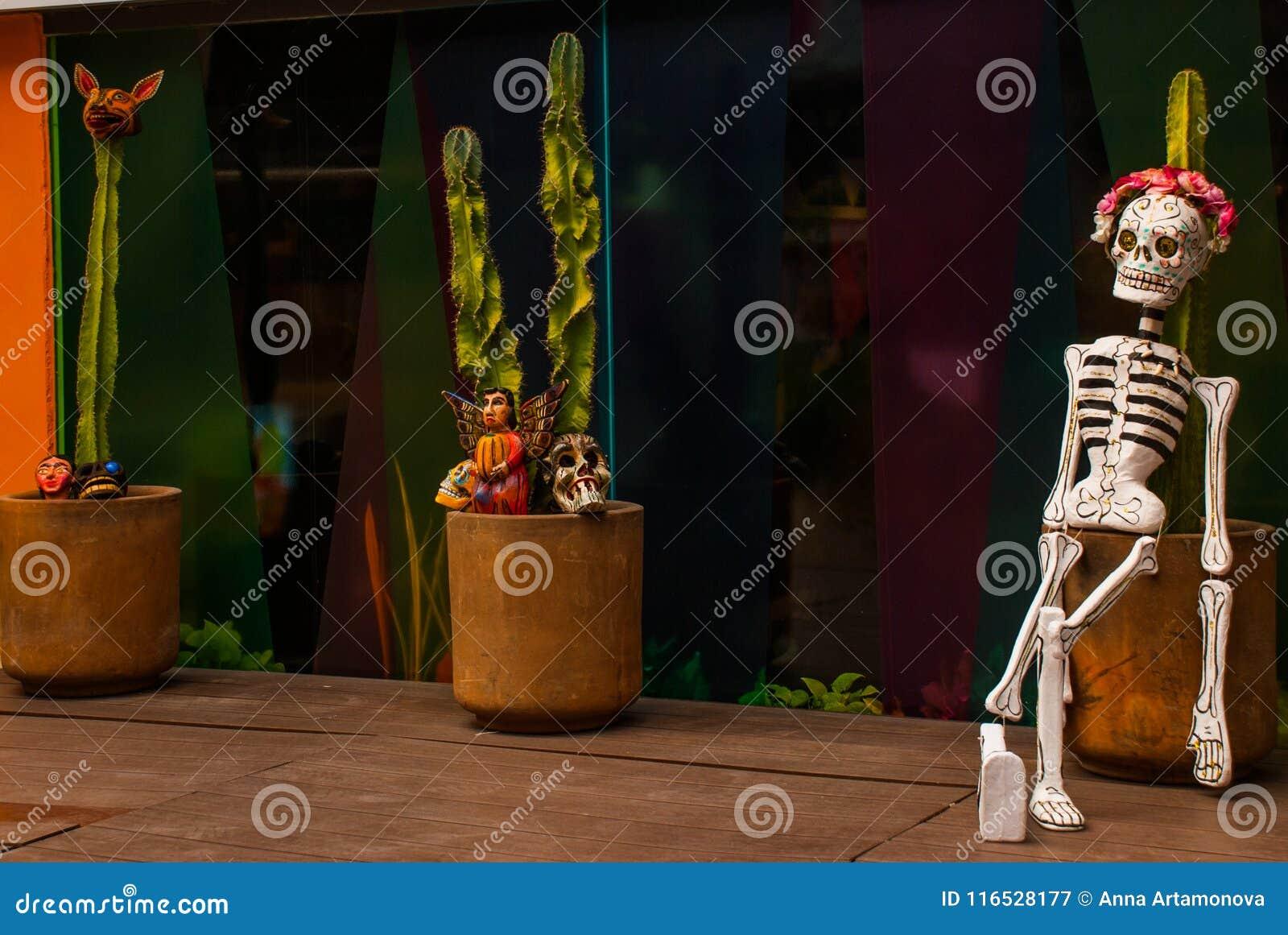 Playa Del Carmen, Mexico, Riviera Maya: Cactus In The Pot