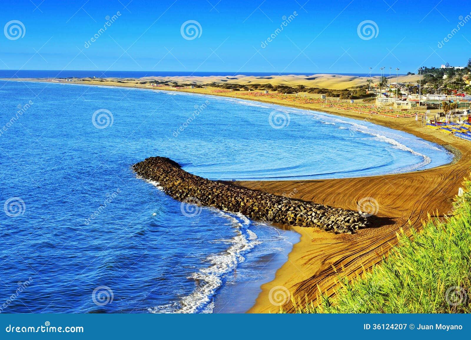 canary islands gran canaria playa del ingles and maspalomas