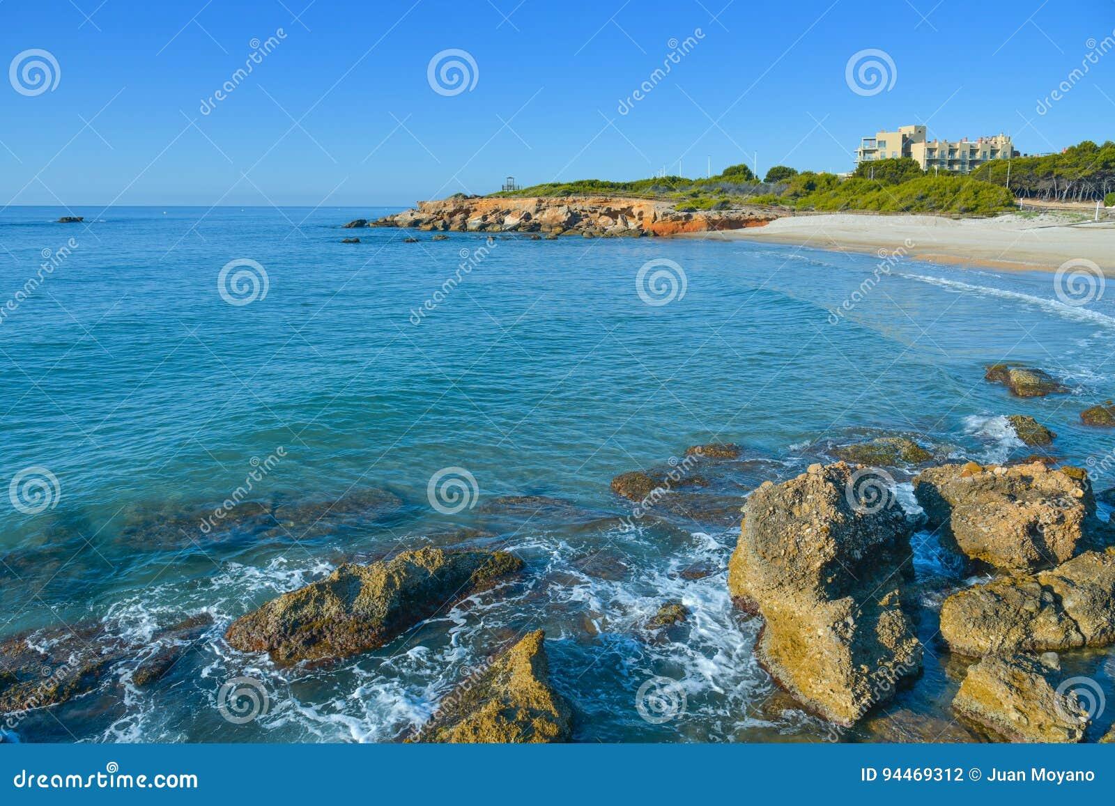 Playa del Moro strand in Alcossebre, Spanje