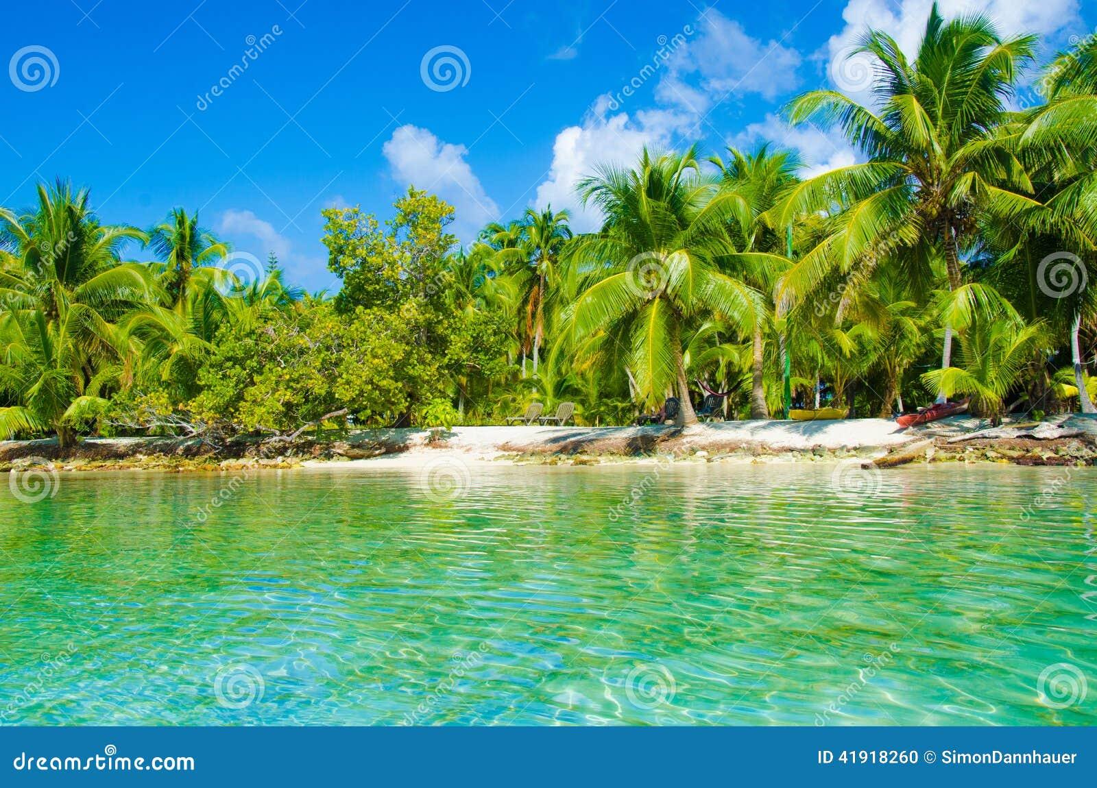 Playa del paraíso en la isla hermosa