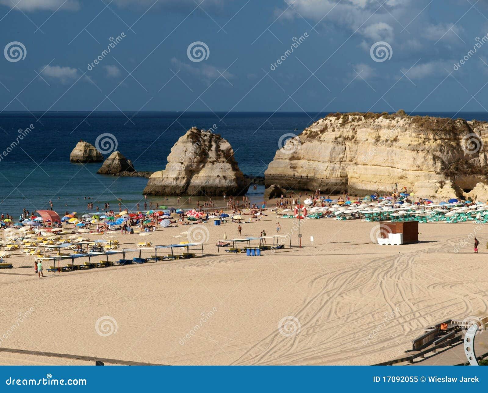Playa del Praia DA Rocha en Portimao