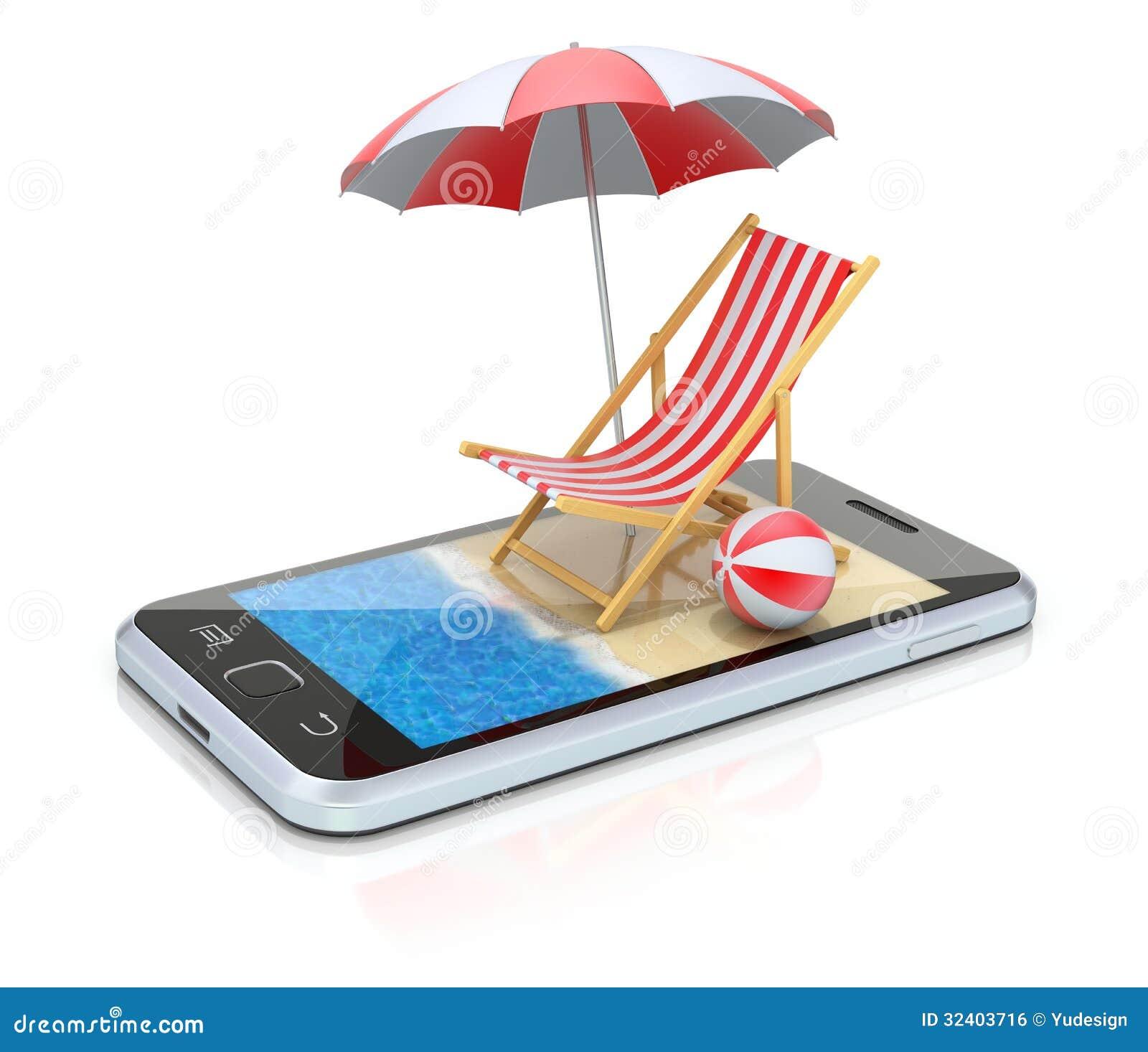 Playa en el smartphone