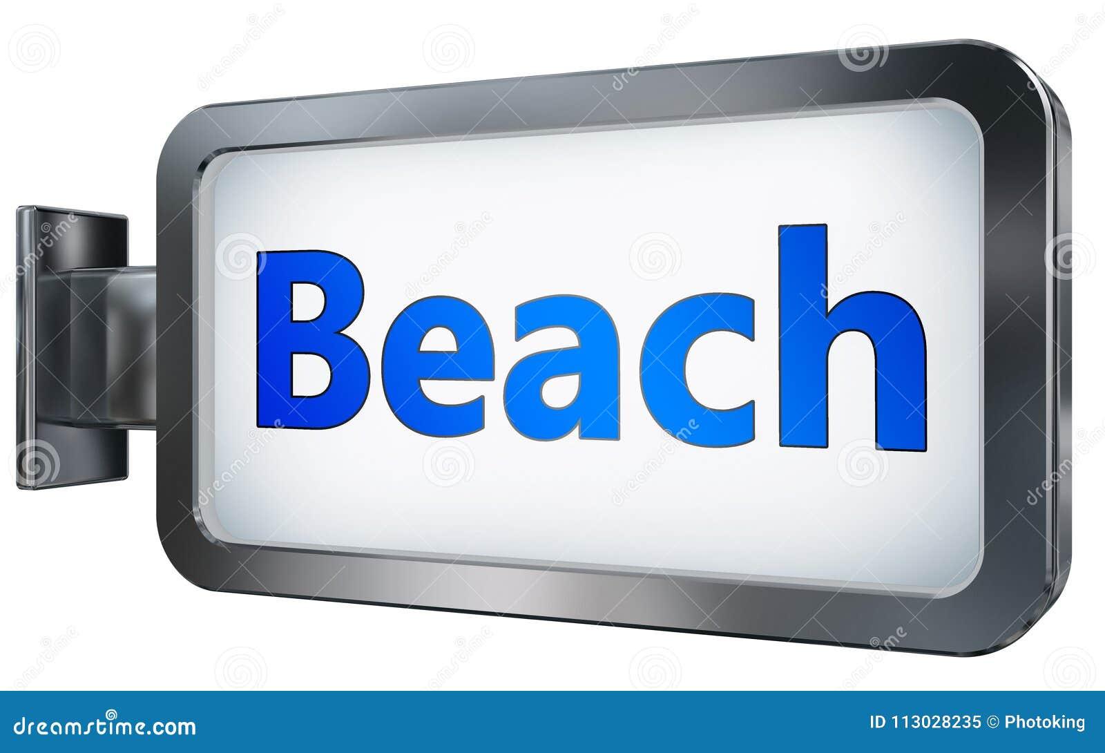 Playa en fondo de la cartelera