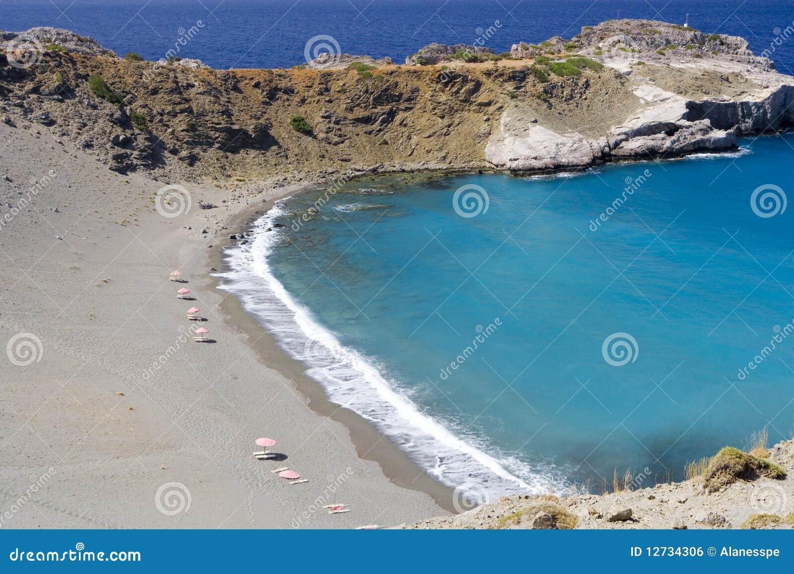 Playa en la isla de crete, Grecia