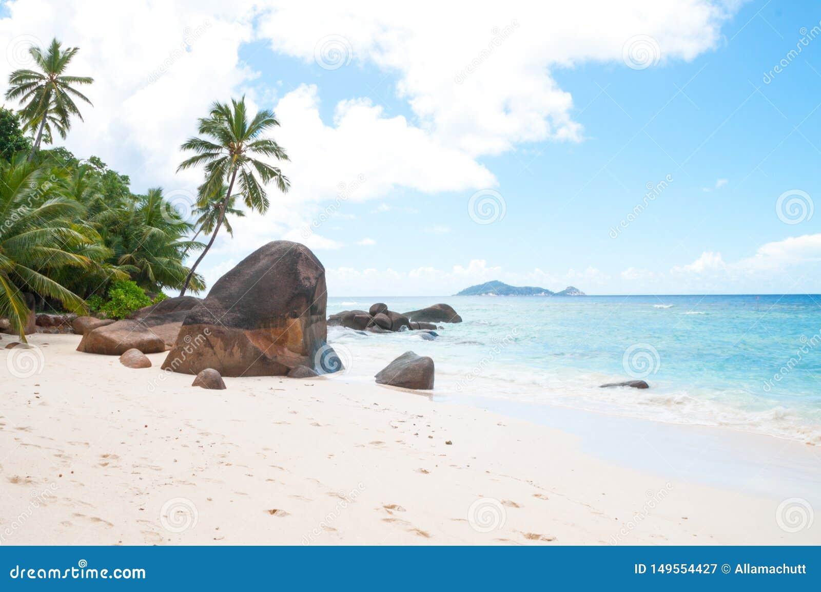 Playa hermosa en Seychelles