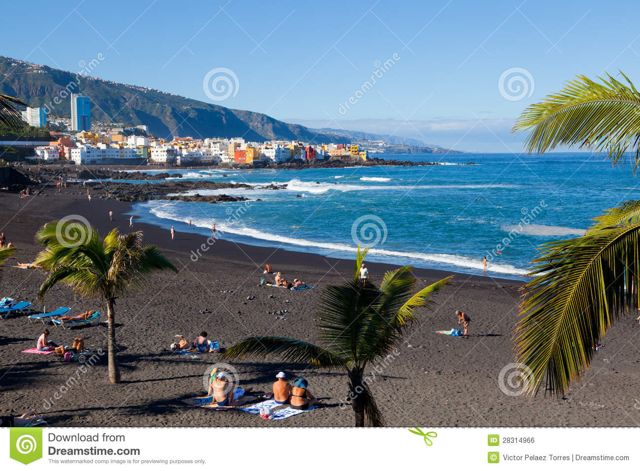 Playa jardin in puerto de la cruz tenerife editorial for Aparthotel jardin de playa
