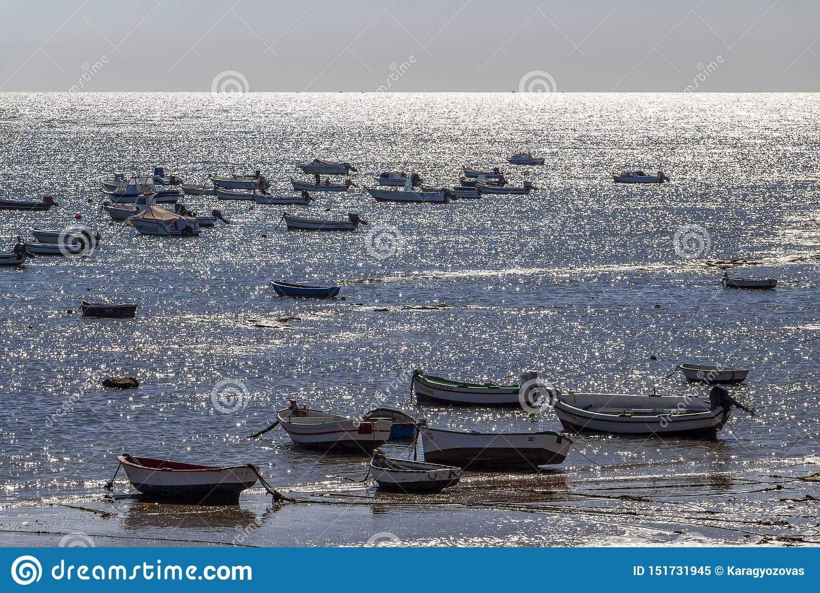 Playa-La Caleta oder La Caleta-Strand, Cadiz, Spanien