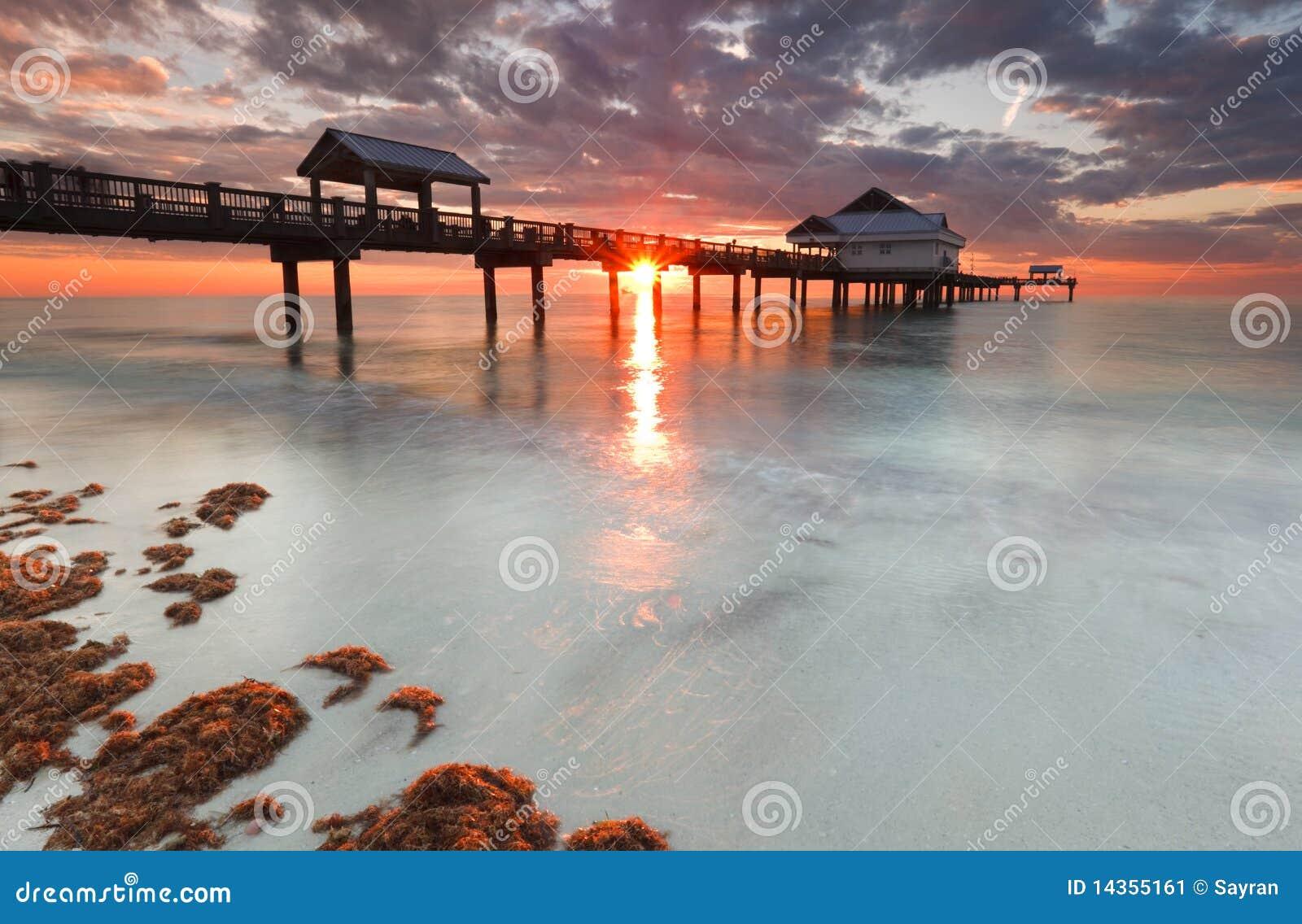 Playa la Florida, puesta del sol de Clearwater