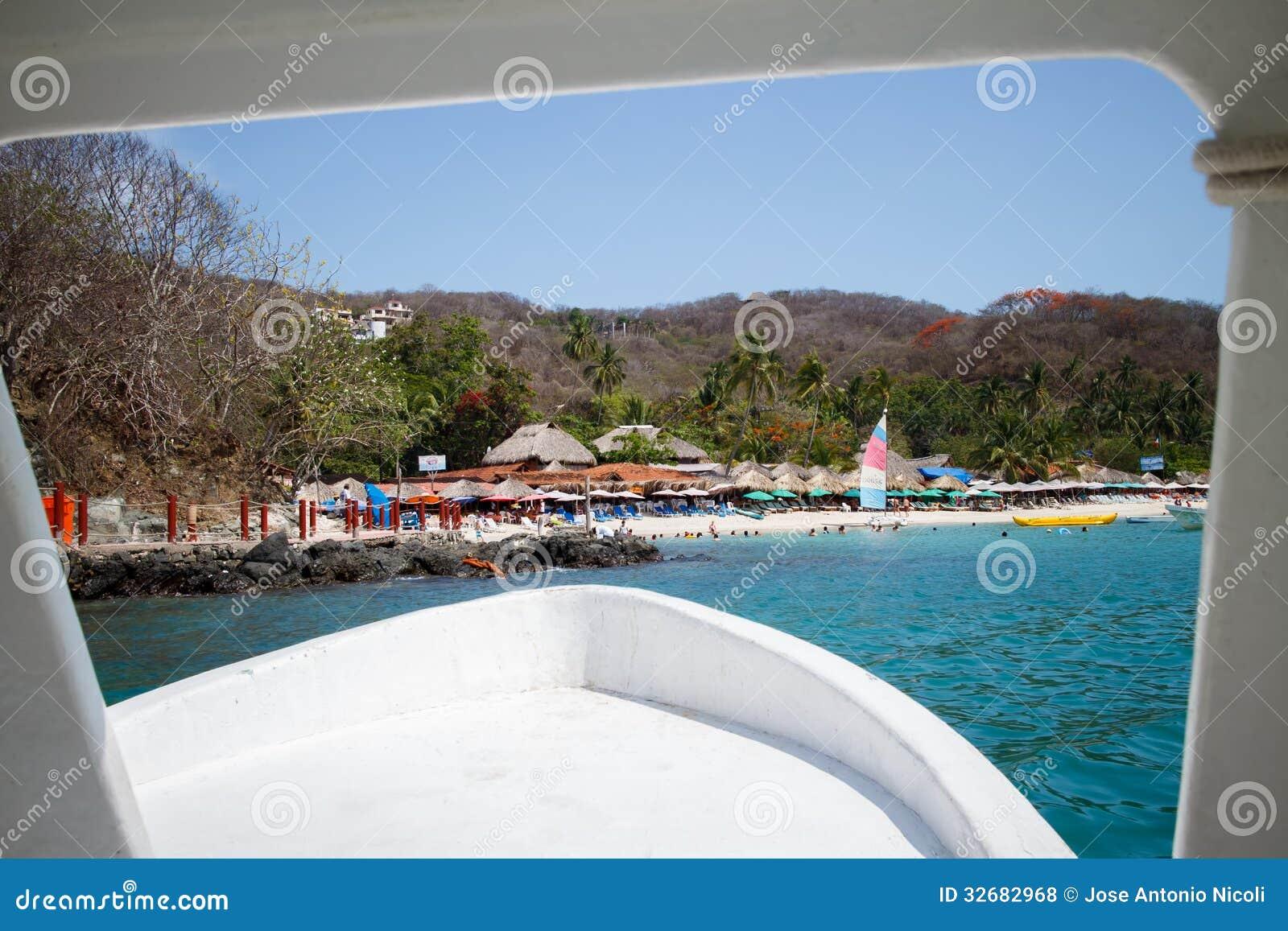 Playa lasy Gatas od łodzi.