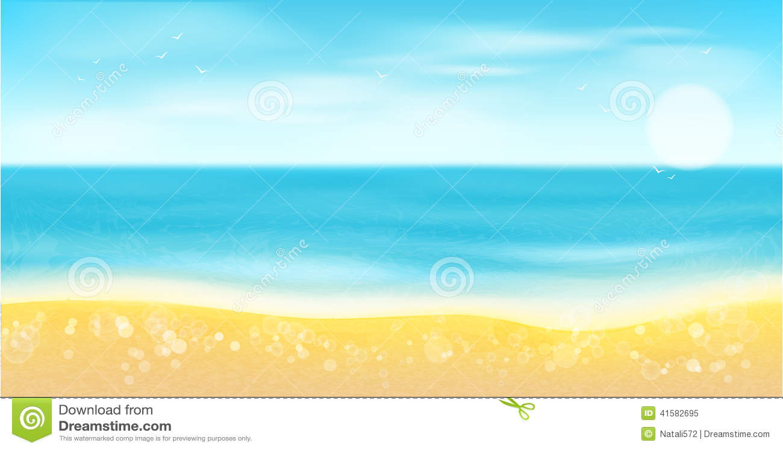 Playa mar arena y sol fondo del verano ilustraci n del for Fondo del sol