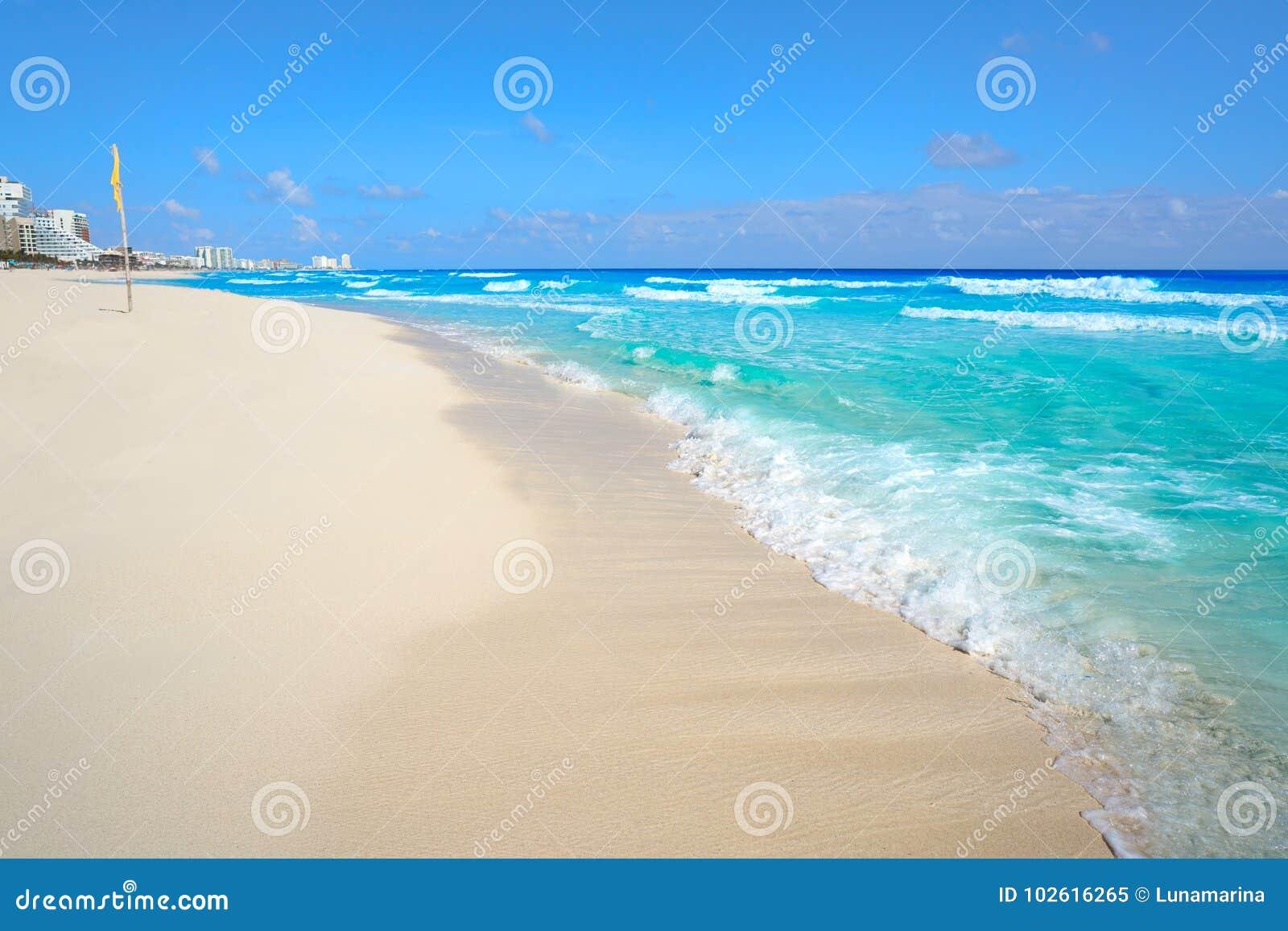 Playa Marlin i den Cancun stranden i Mexico