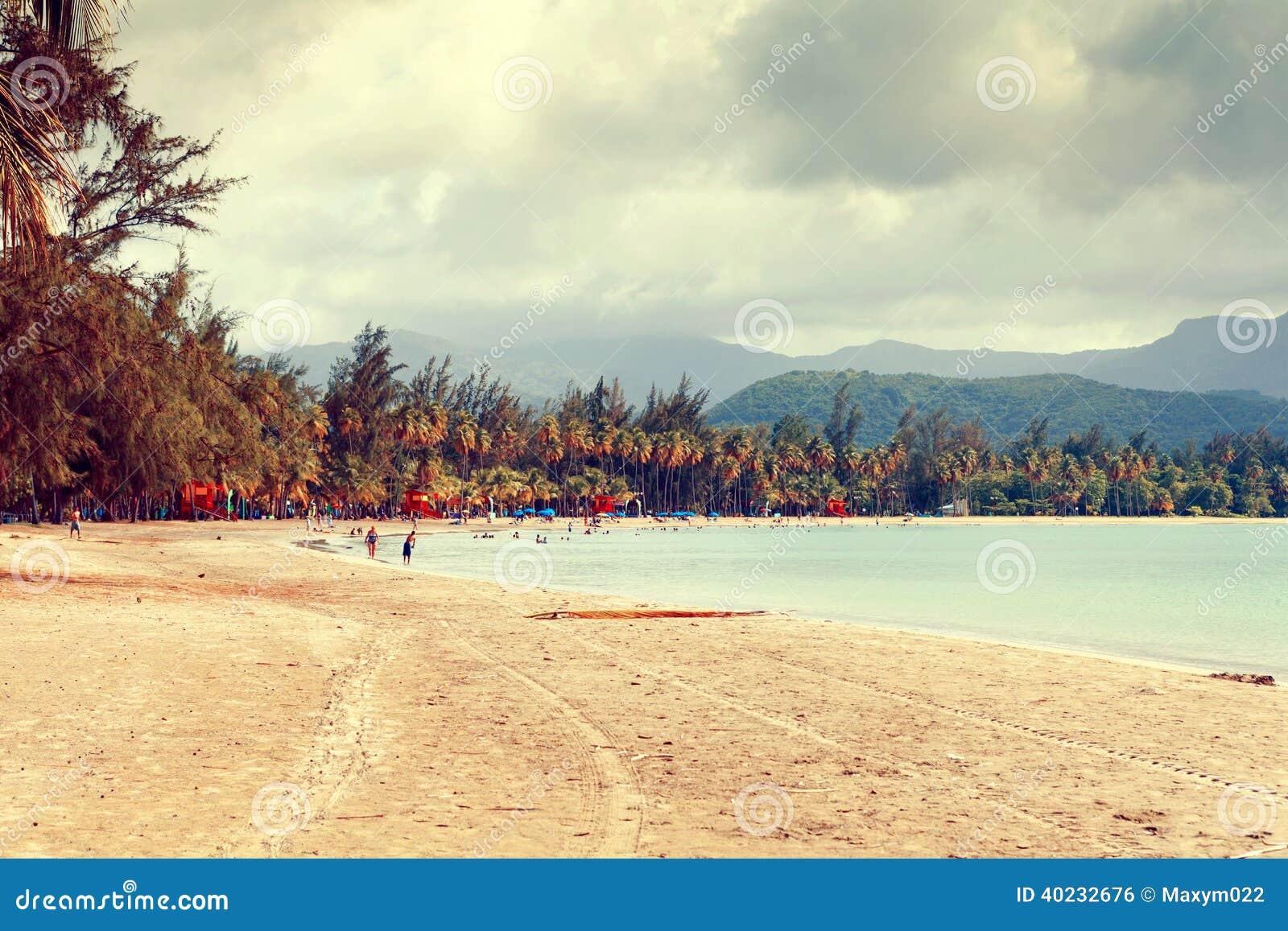 Playa tropical caliente