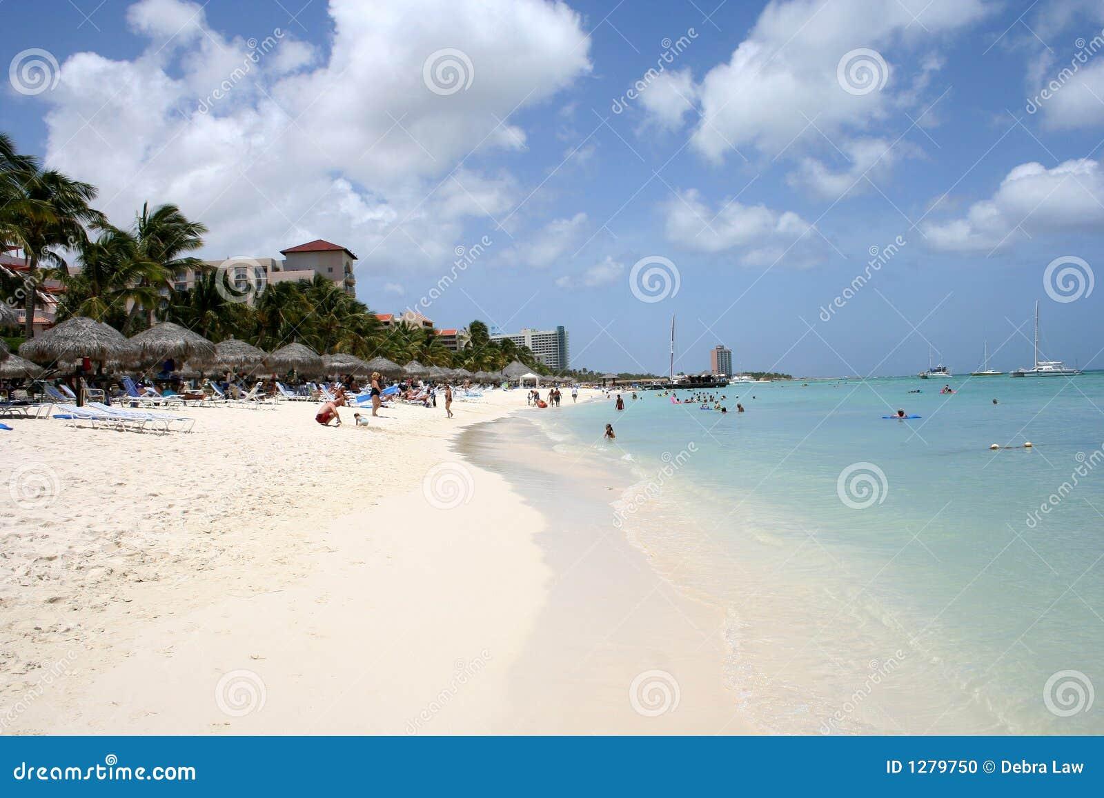 Playa tropical de Aruba