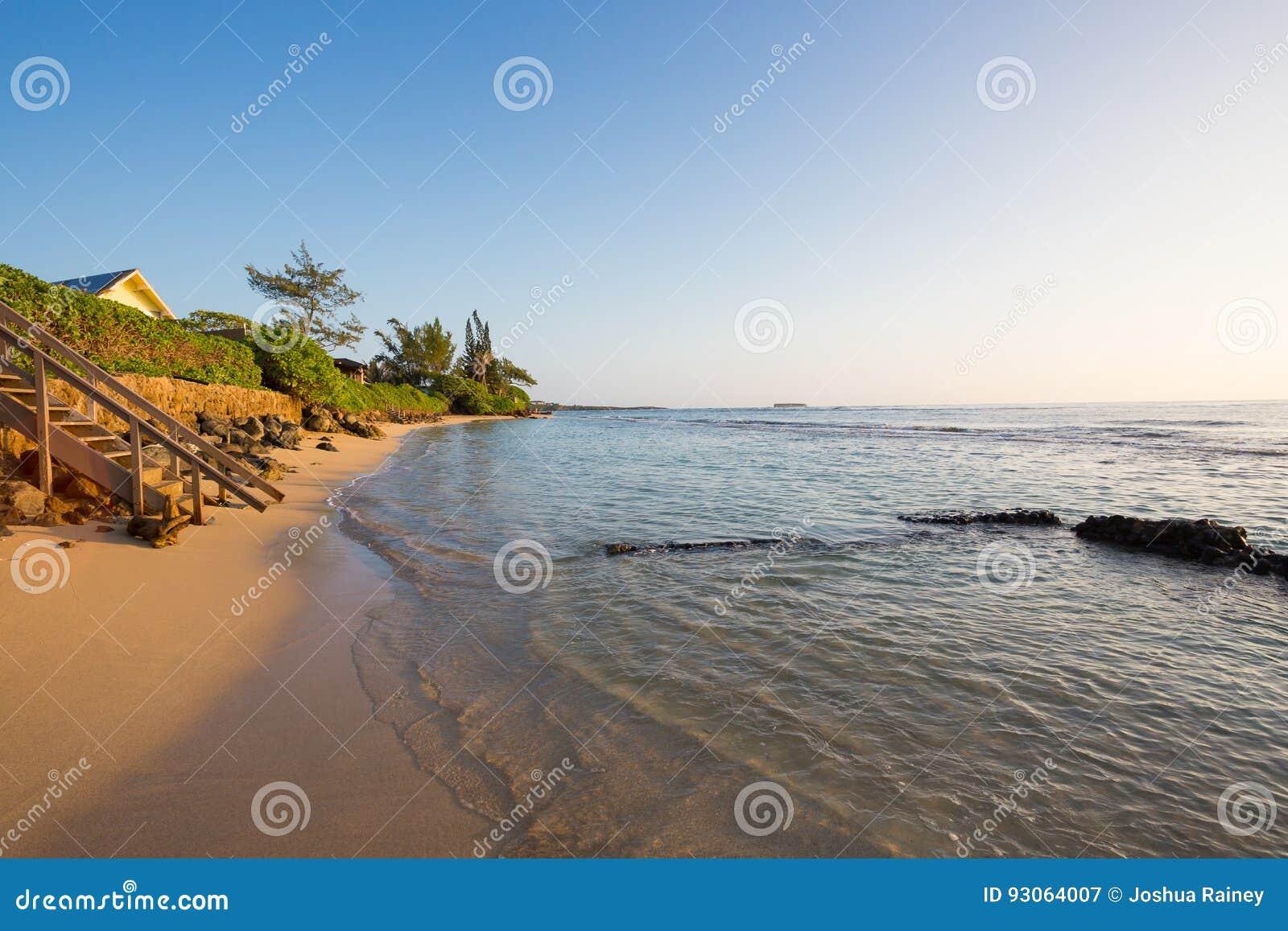 Playa tropical Oahu Hawaii del paraíso