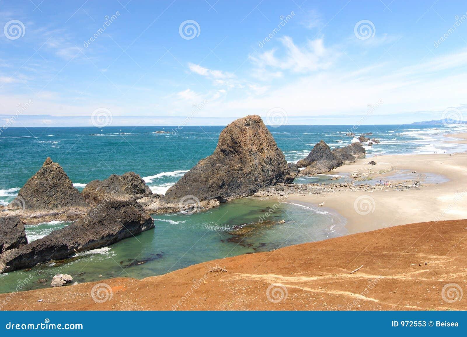 Playa View1 de la costa de Oregon