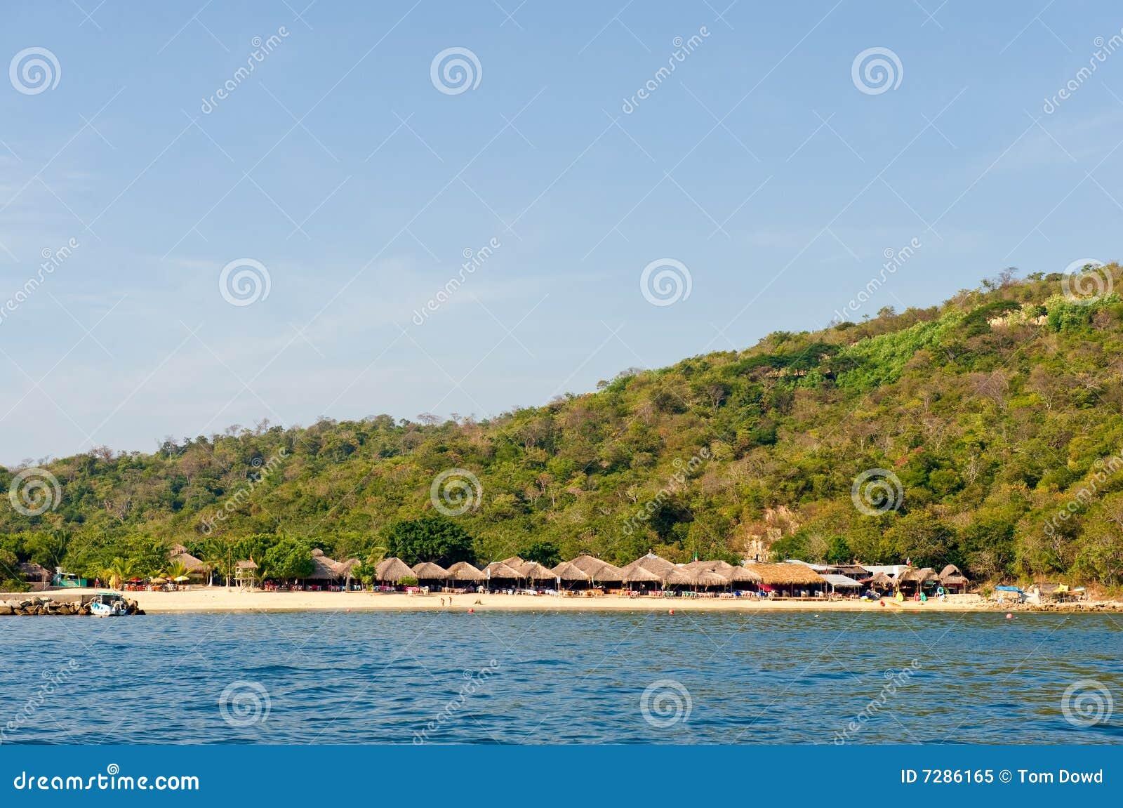 Playa y agua de México