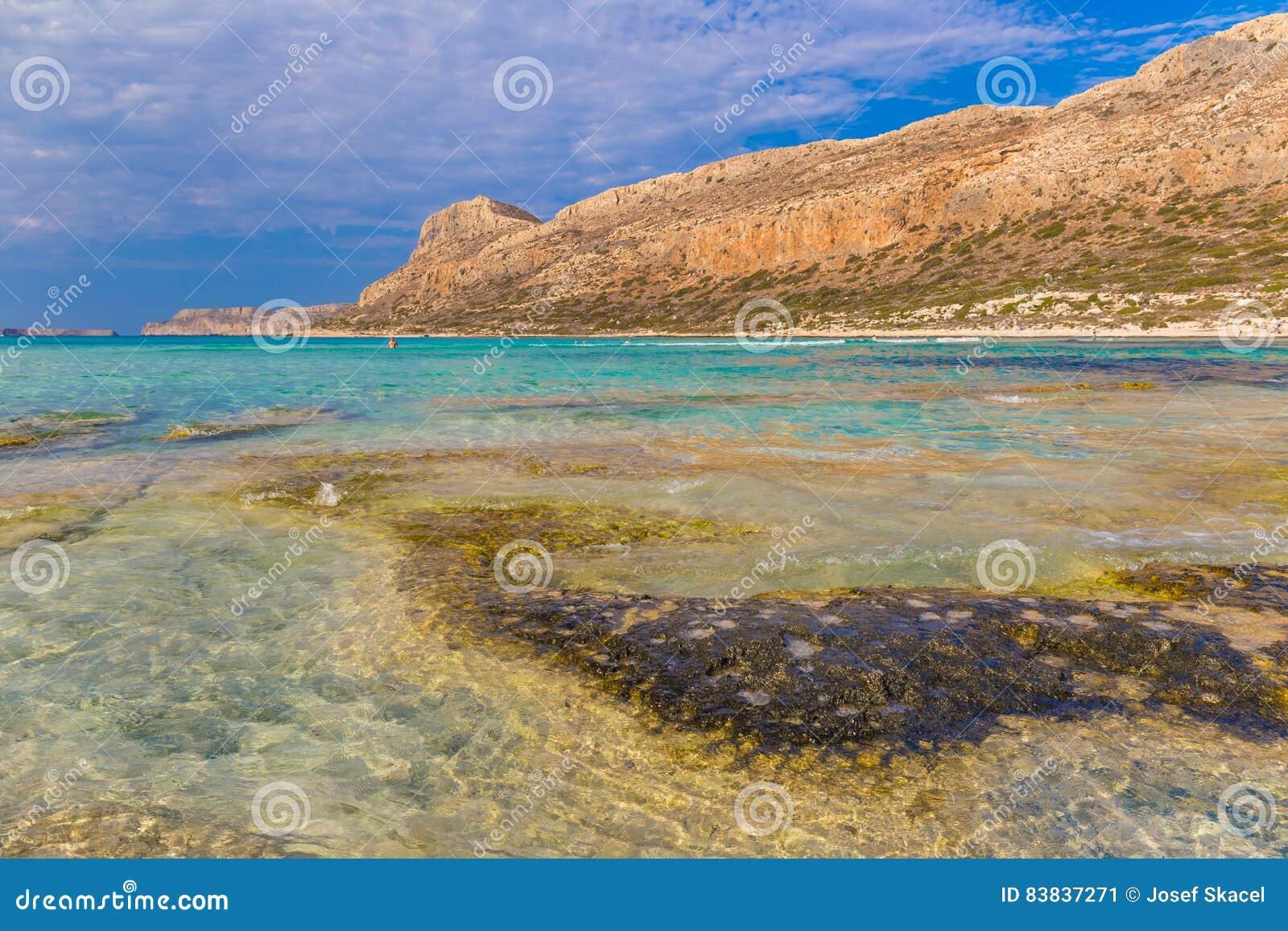 Playa y laguna, prefectura de Chania, Creta del oeste, Grecia de Balos