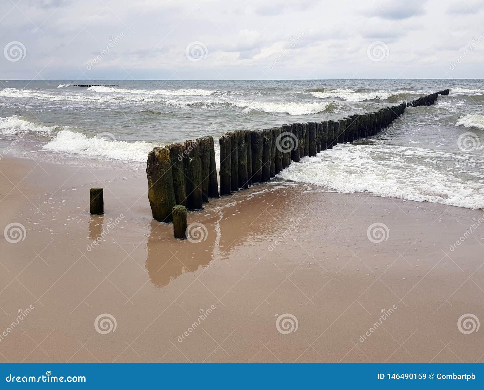Playa y mar en Polonia