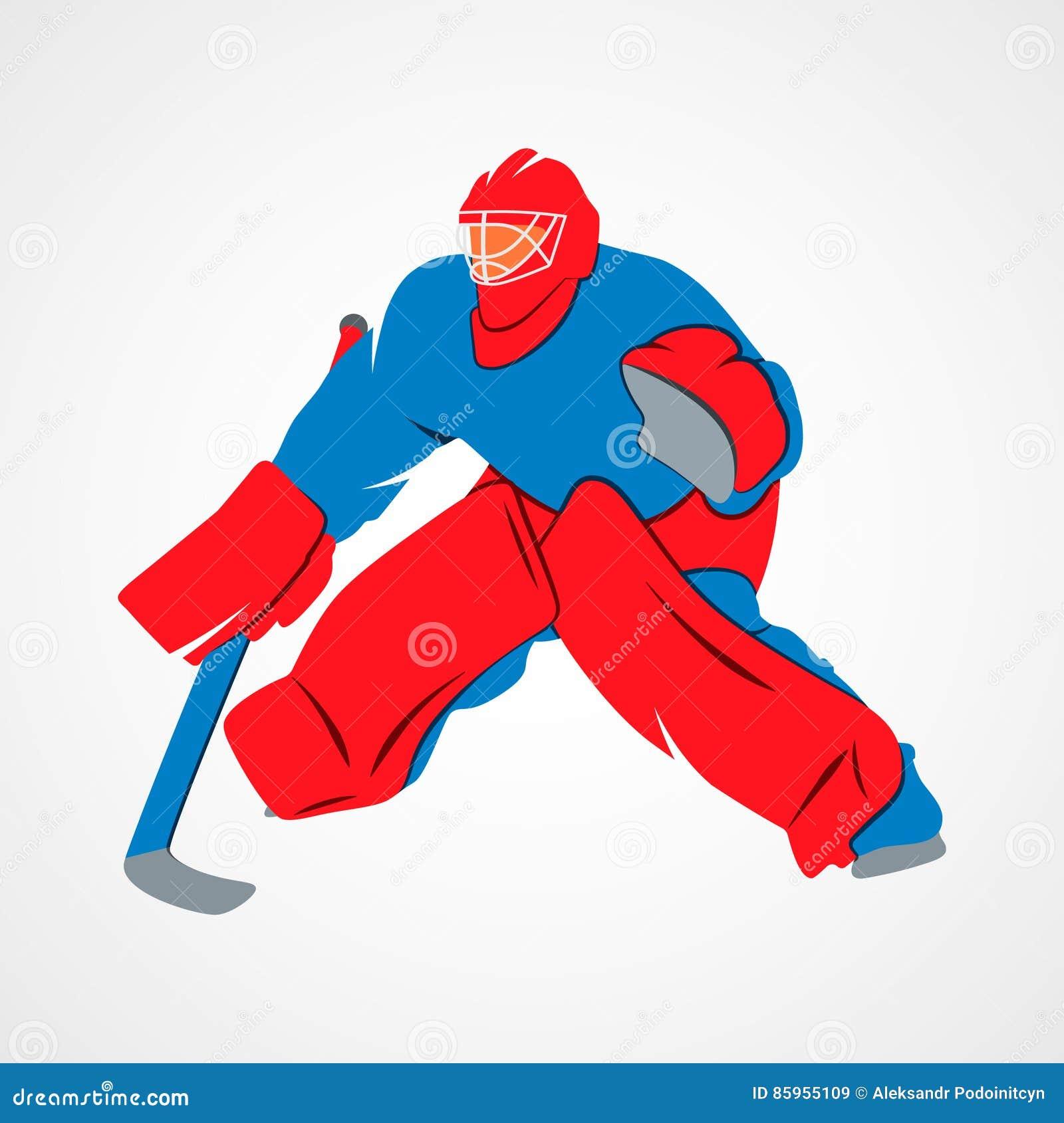 Player Hockey Goalie Cartoon Vector Cartoondealer Com 85955109