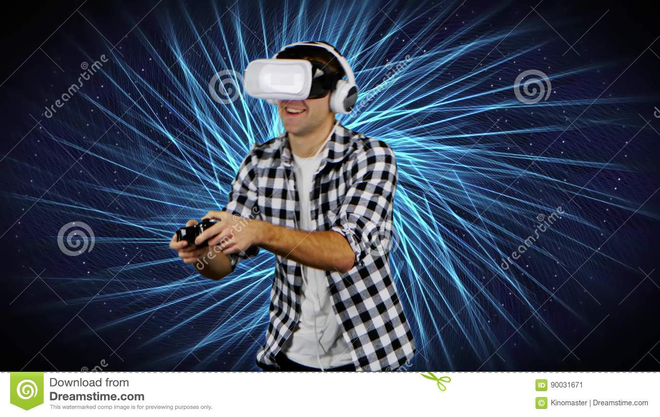 Player in virtual reality glasses on background of computer graphics player in virtual reality glasses on background of computer graphics stock video video of console play 90031671 freerunsca Choice Image
