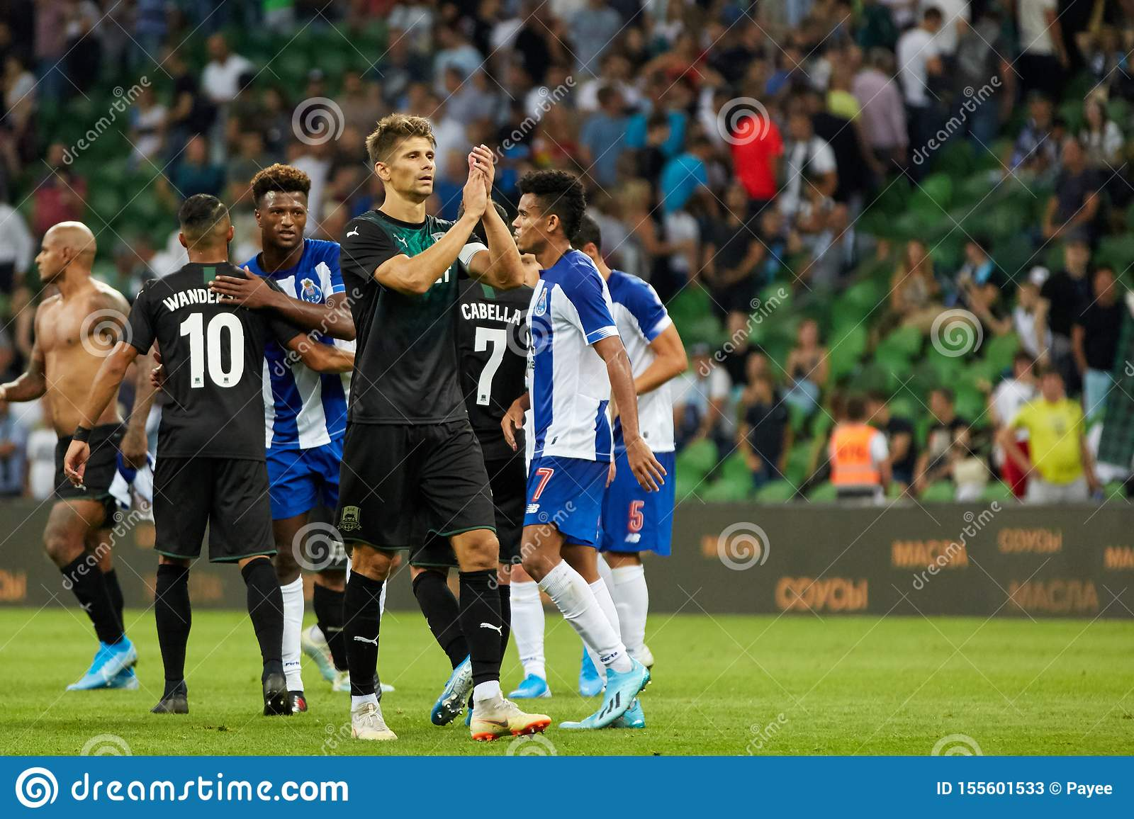 Players Of Fc Krasnodar Thank The Fans Editorial Stock Photo Image Of Player League 155601533