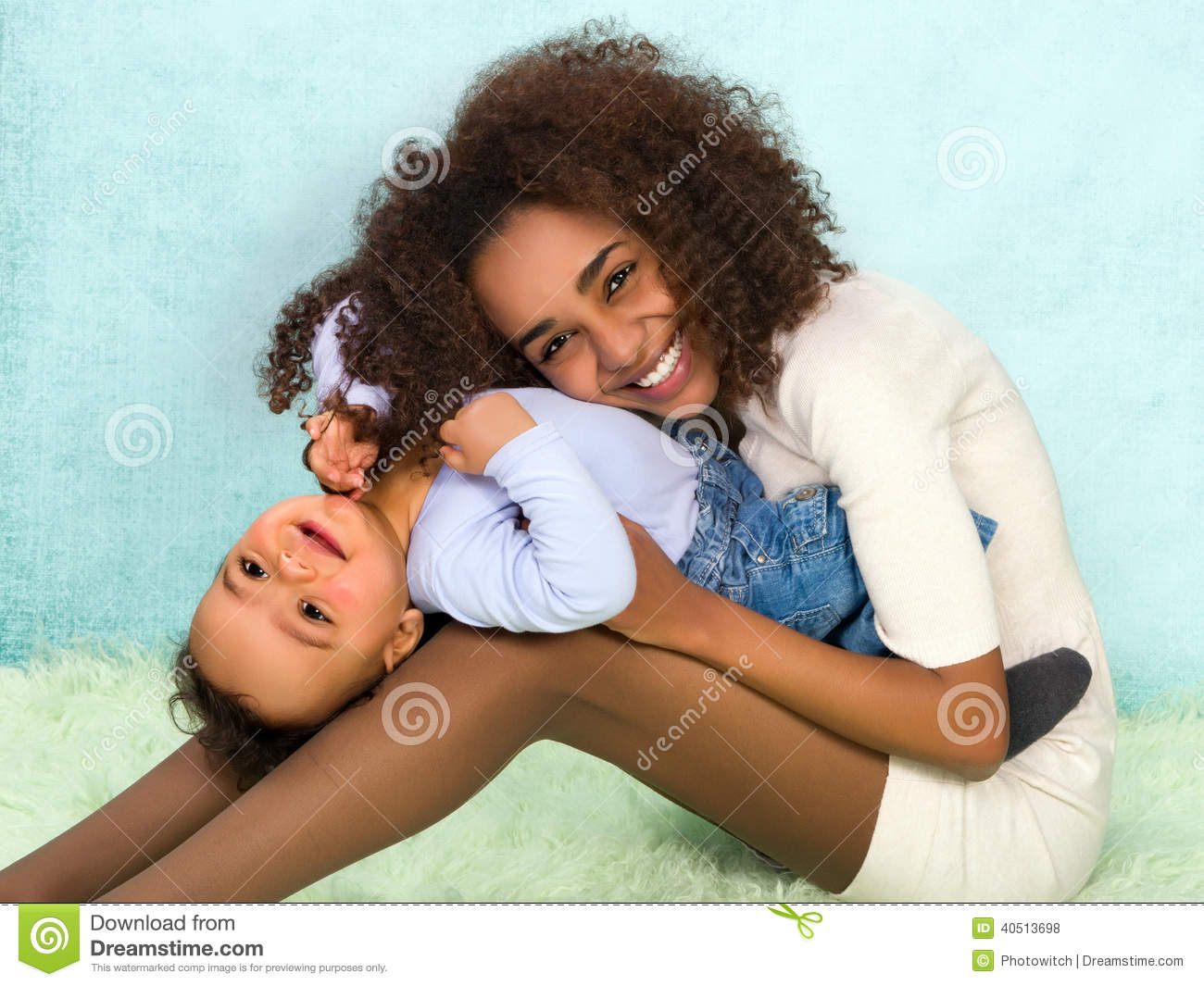 Playful African Mother And Baby Stock Photo Image Of