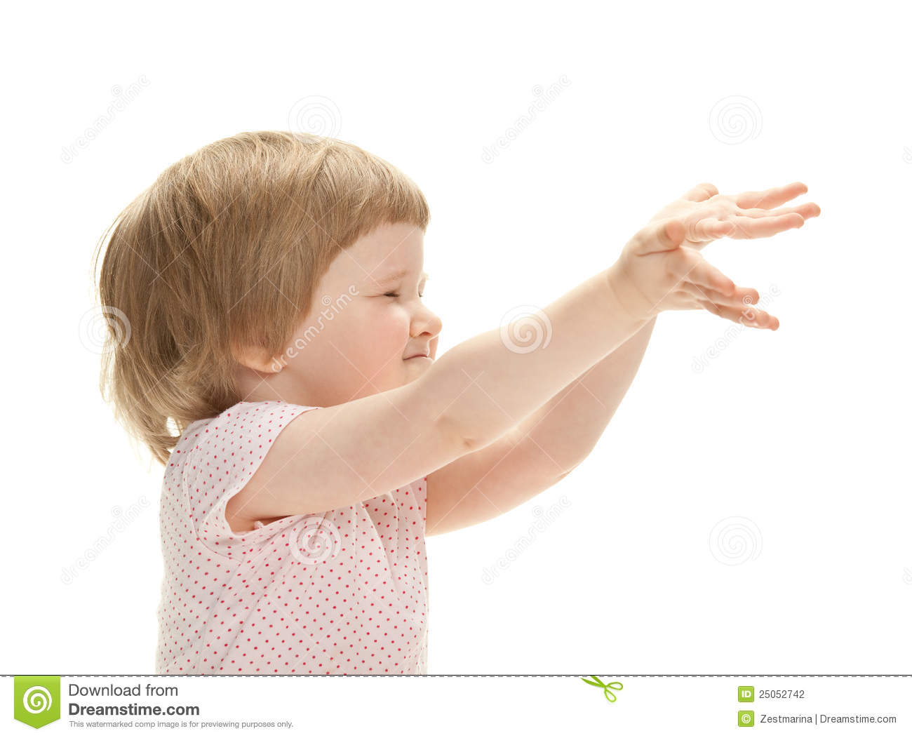 Playful baby reaching hands out stock photography image 25052742