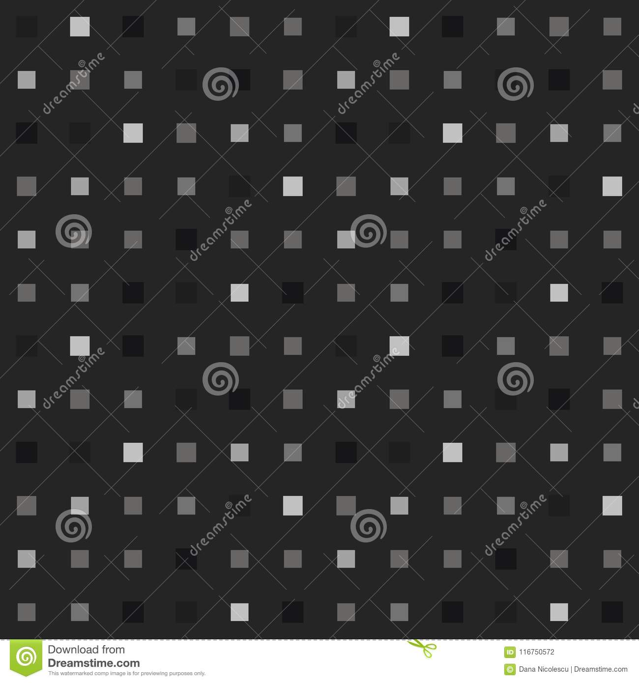 Playful Grayscale Pixel Seamless Pattern Stock Vector