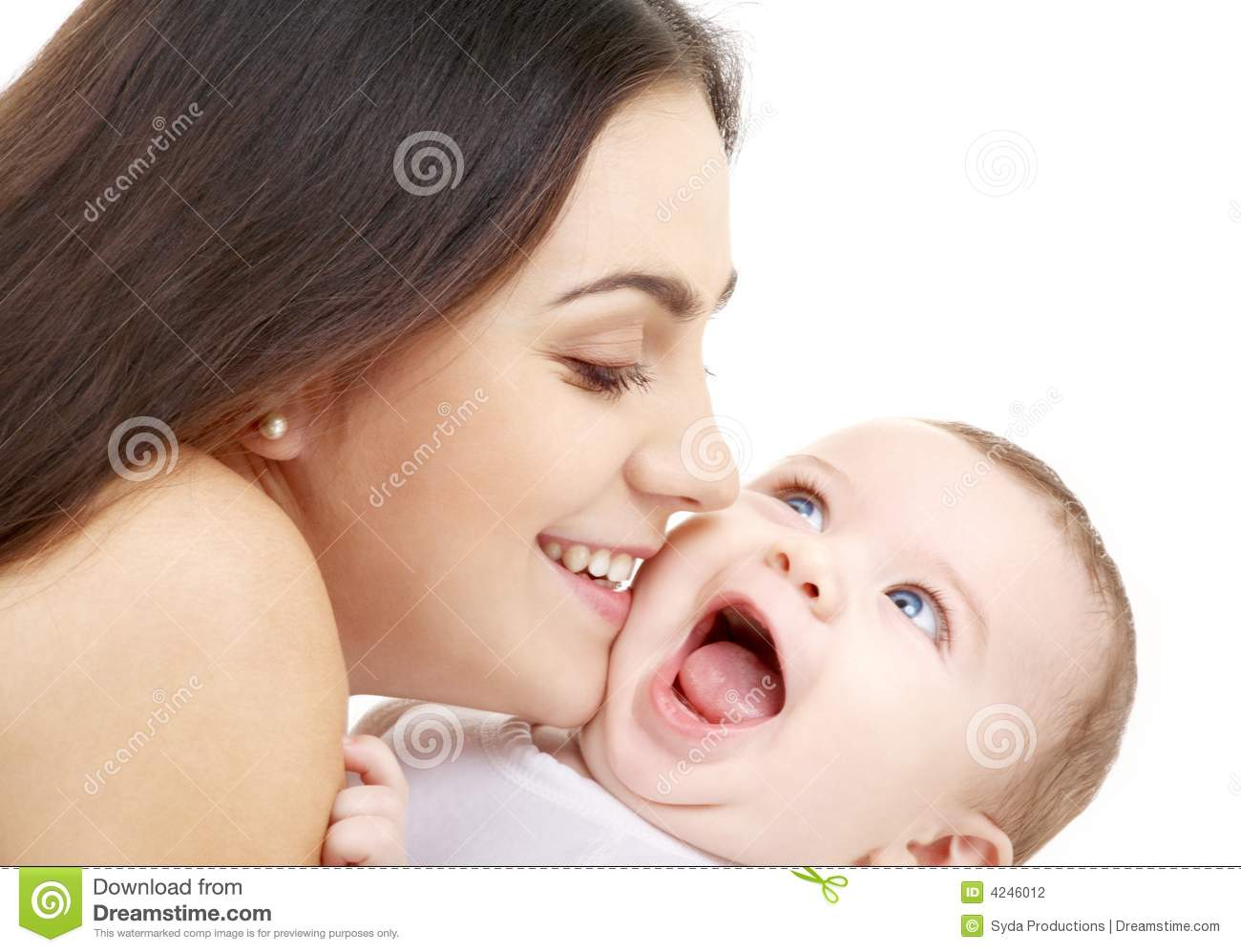 Playful Mama With Happy Baby Stock Photography Image