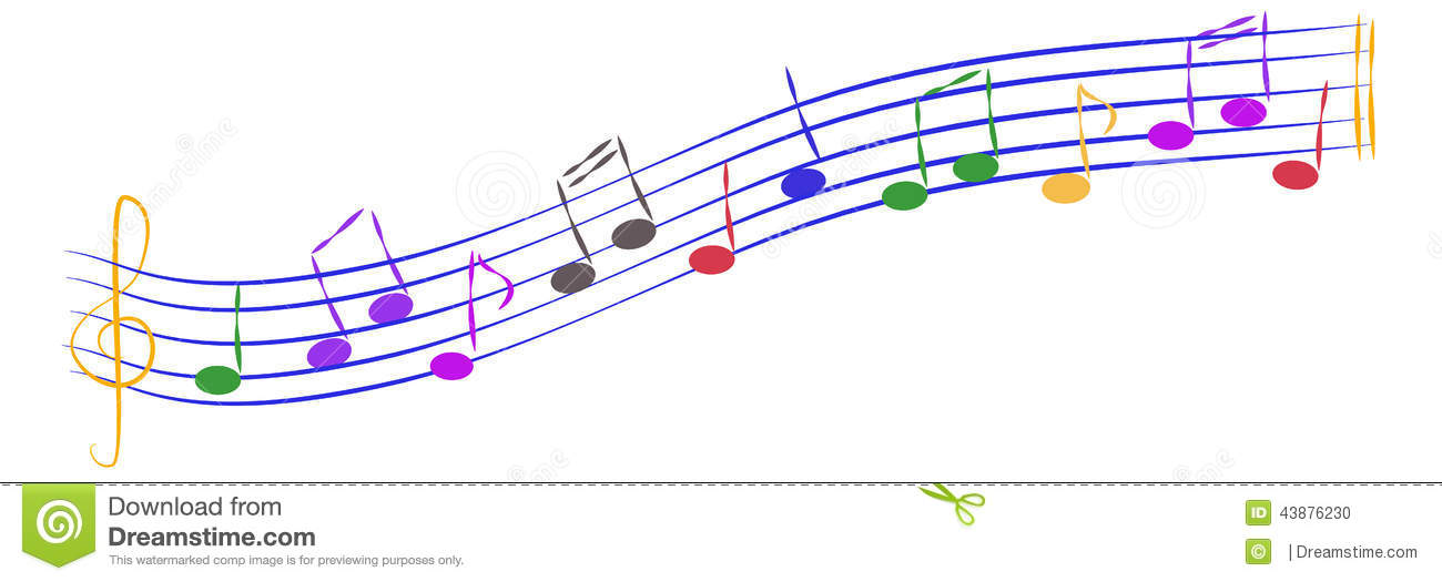 Playful Musical Notes Stock Vector