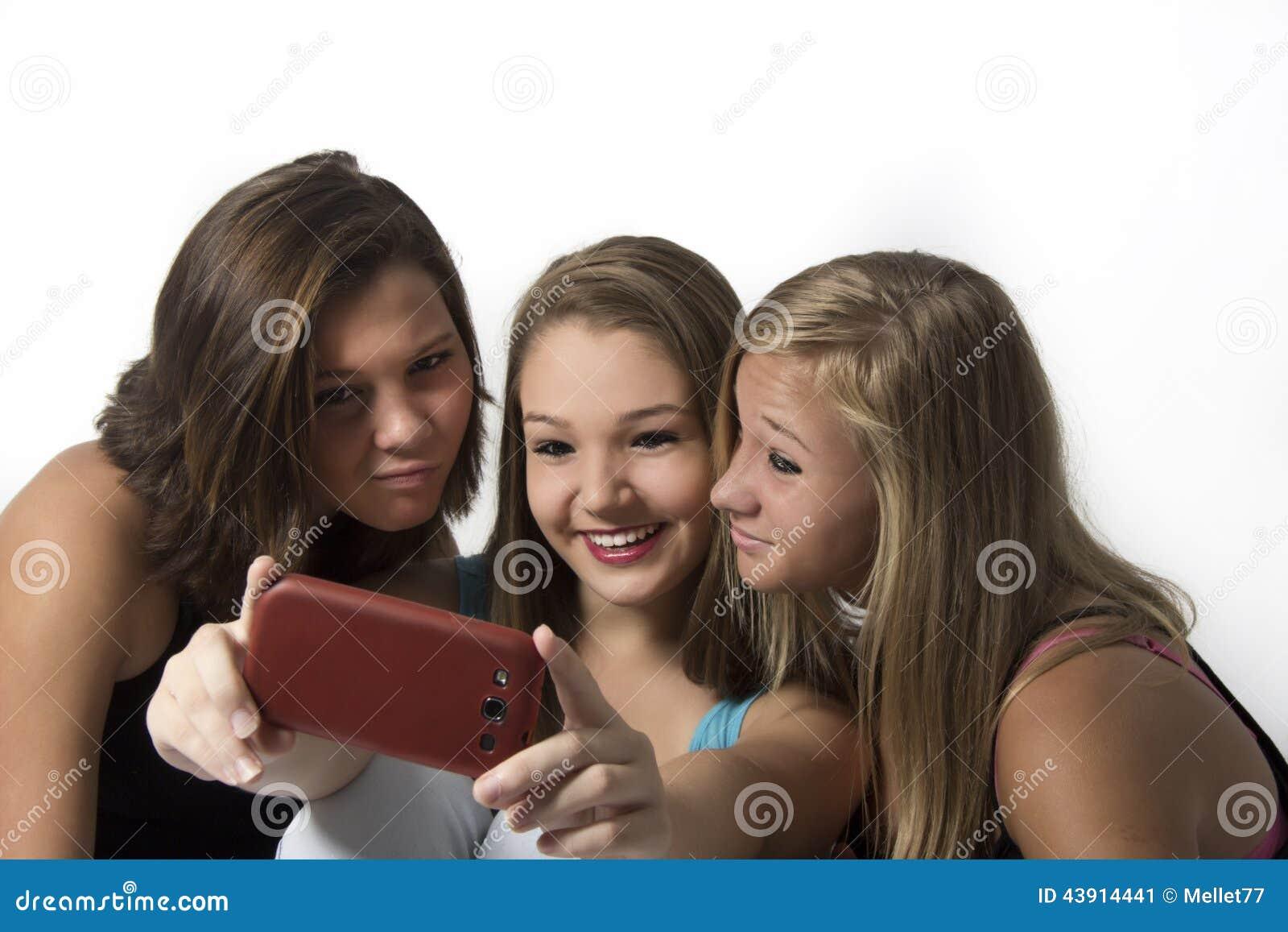 Group selfies Teen girl